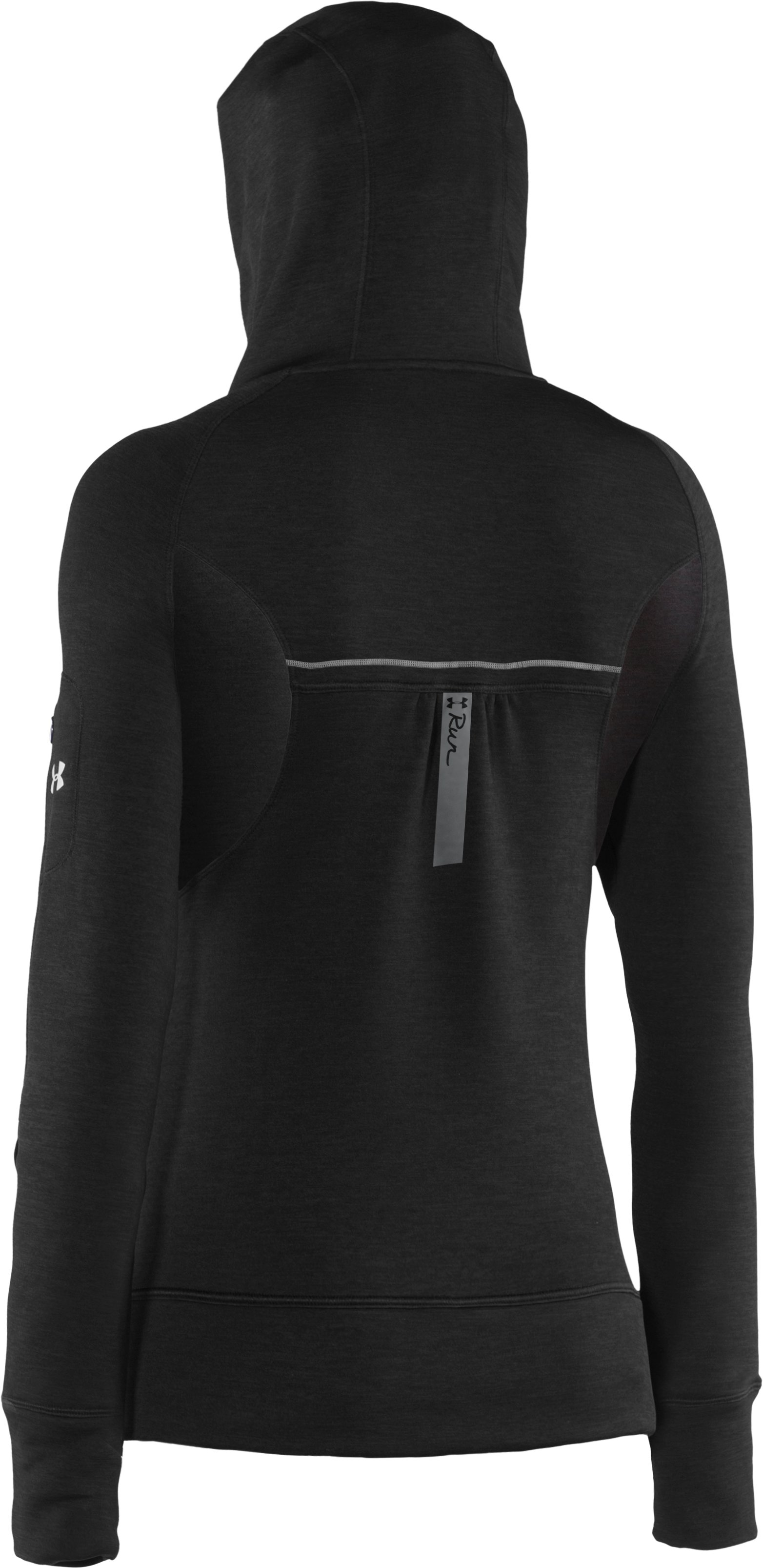 Women's UA Storm Fleece Full Zip, Black ,