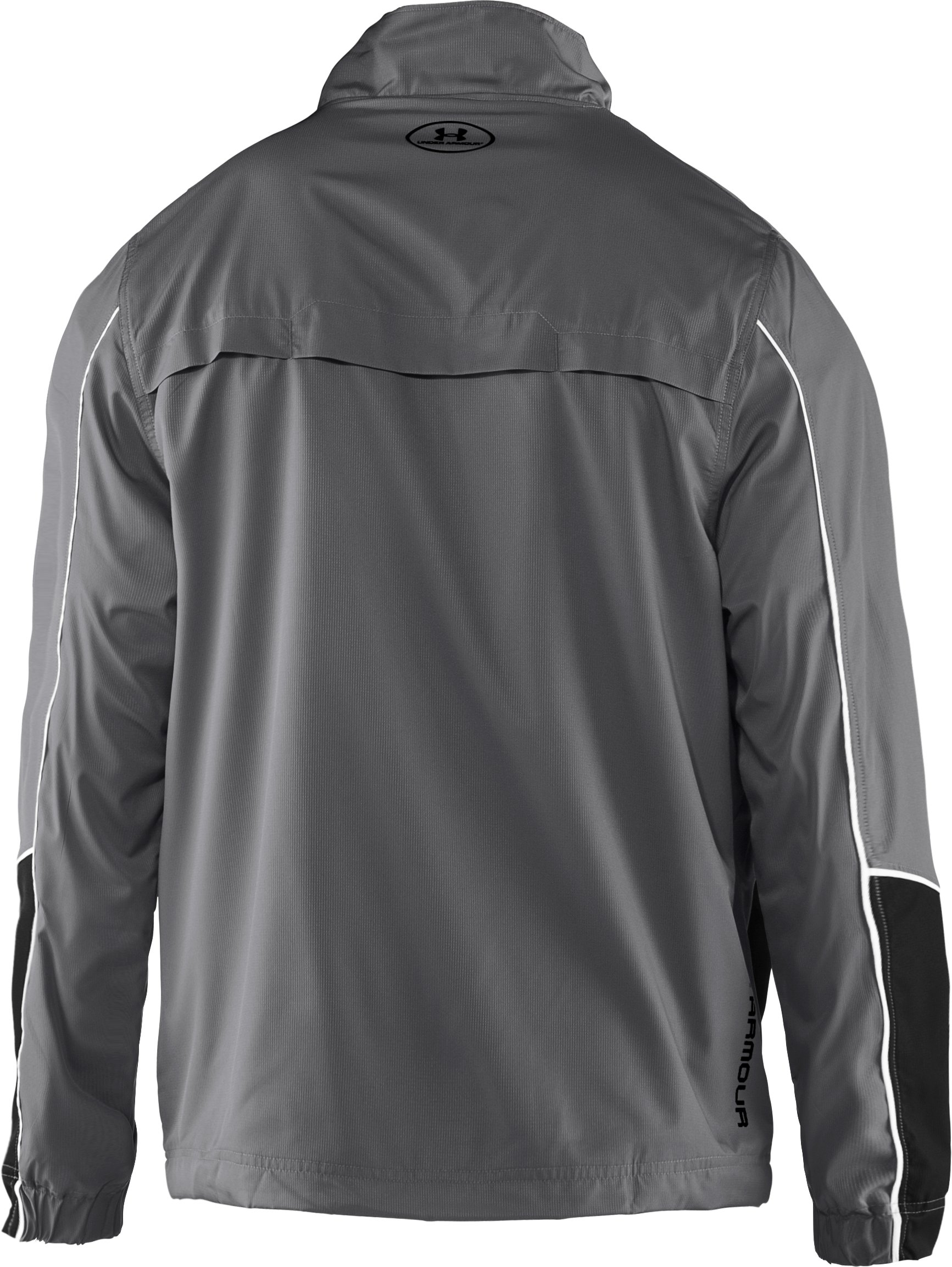 Men's UA Bandito Woven Warm-Up Jacket, Graphite