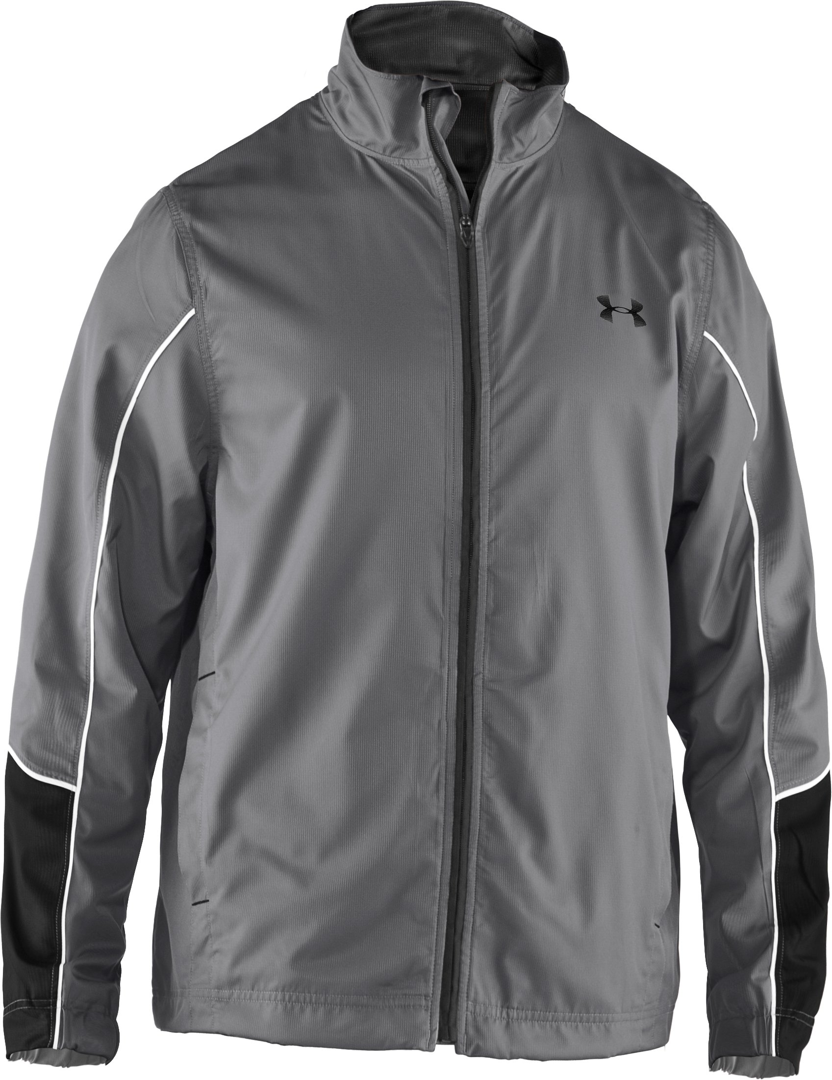 Men's UA Bandito Woven Warm-Up Jacket, Graphite, undefined