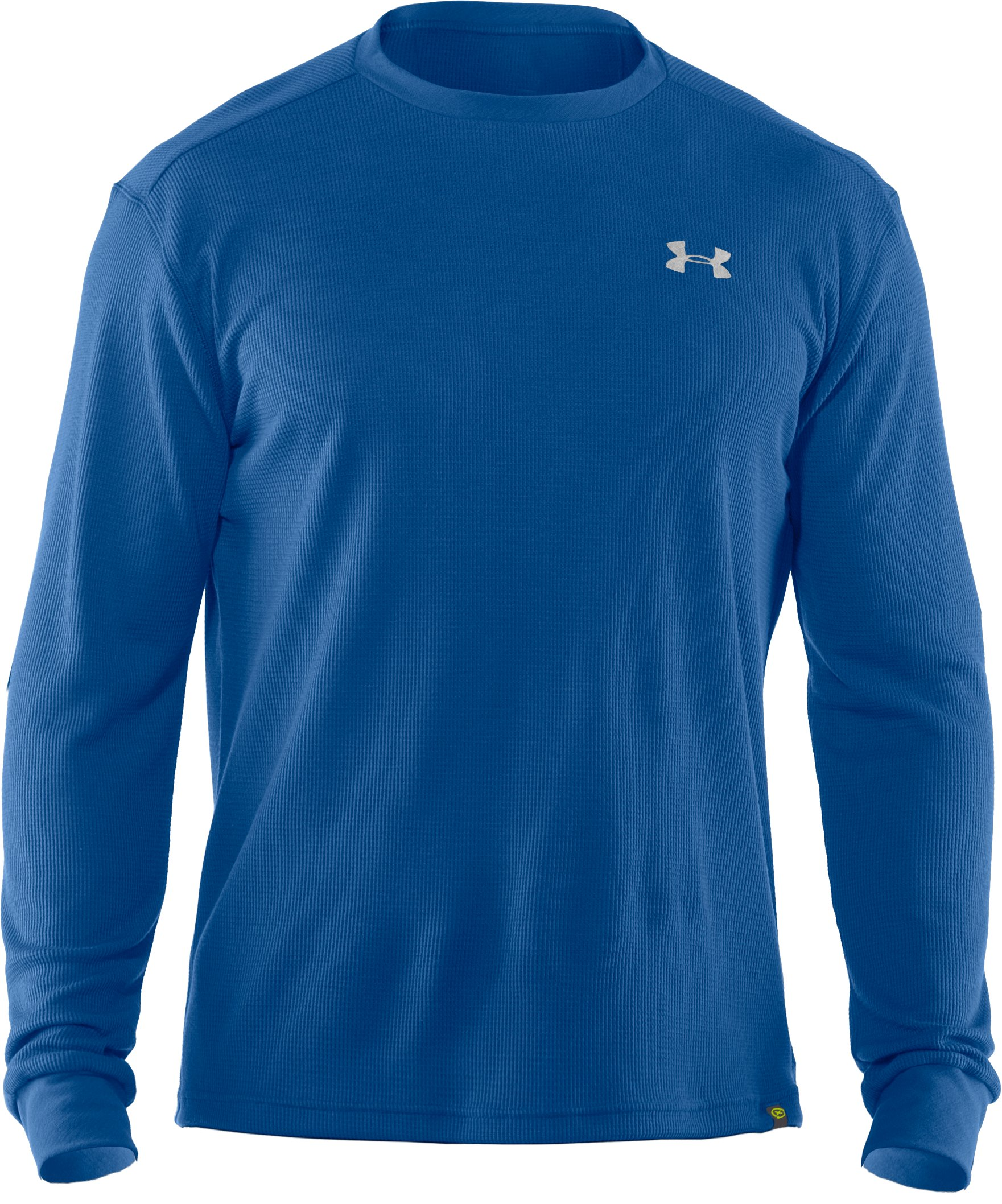 Men's UA Waffle Crew Shirt, EMPIRE BLUE