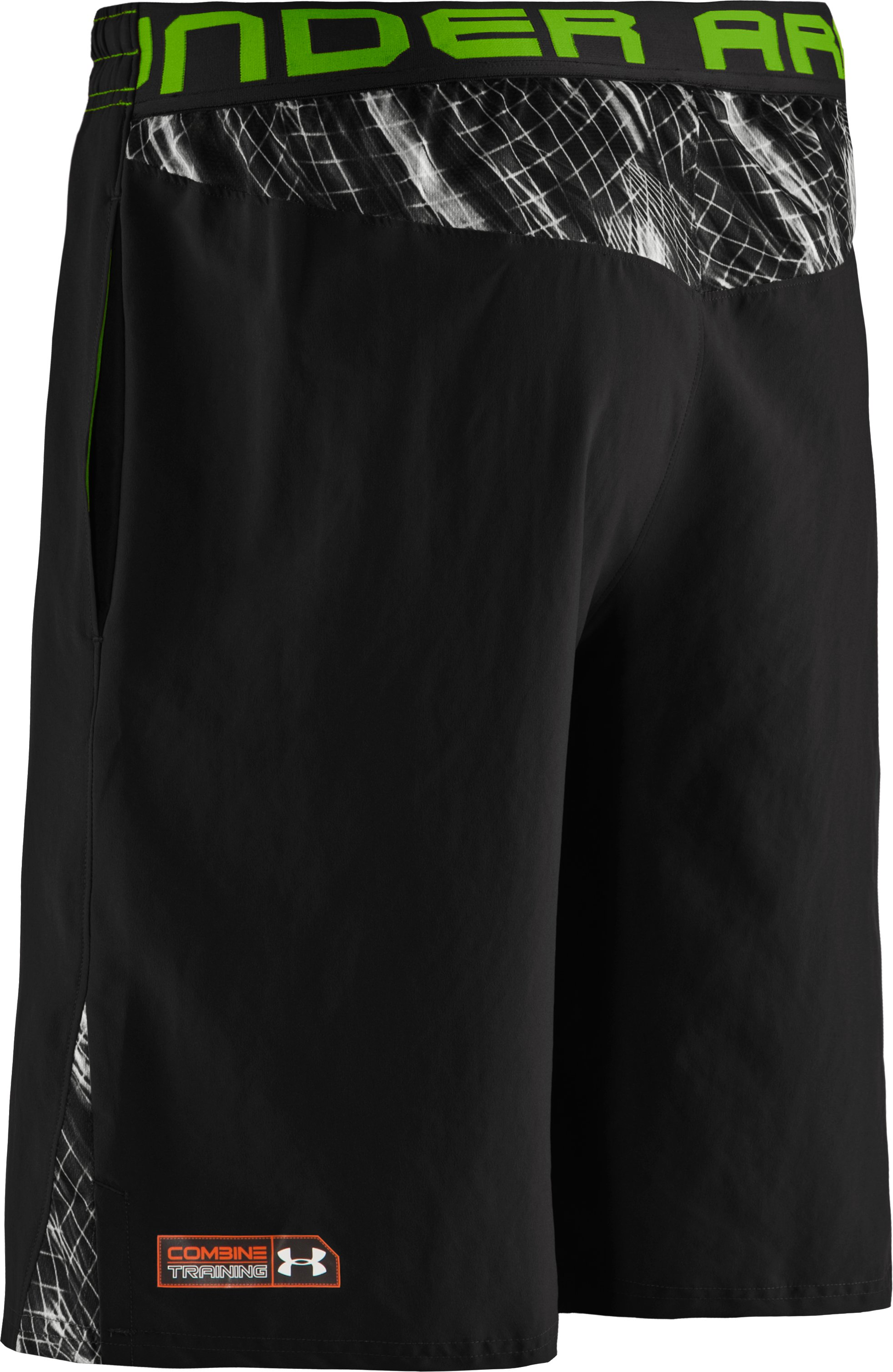 "Men's UA Combine® Training Plus 10"" Shorts, Black"
