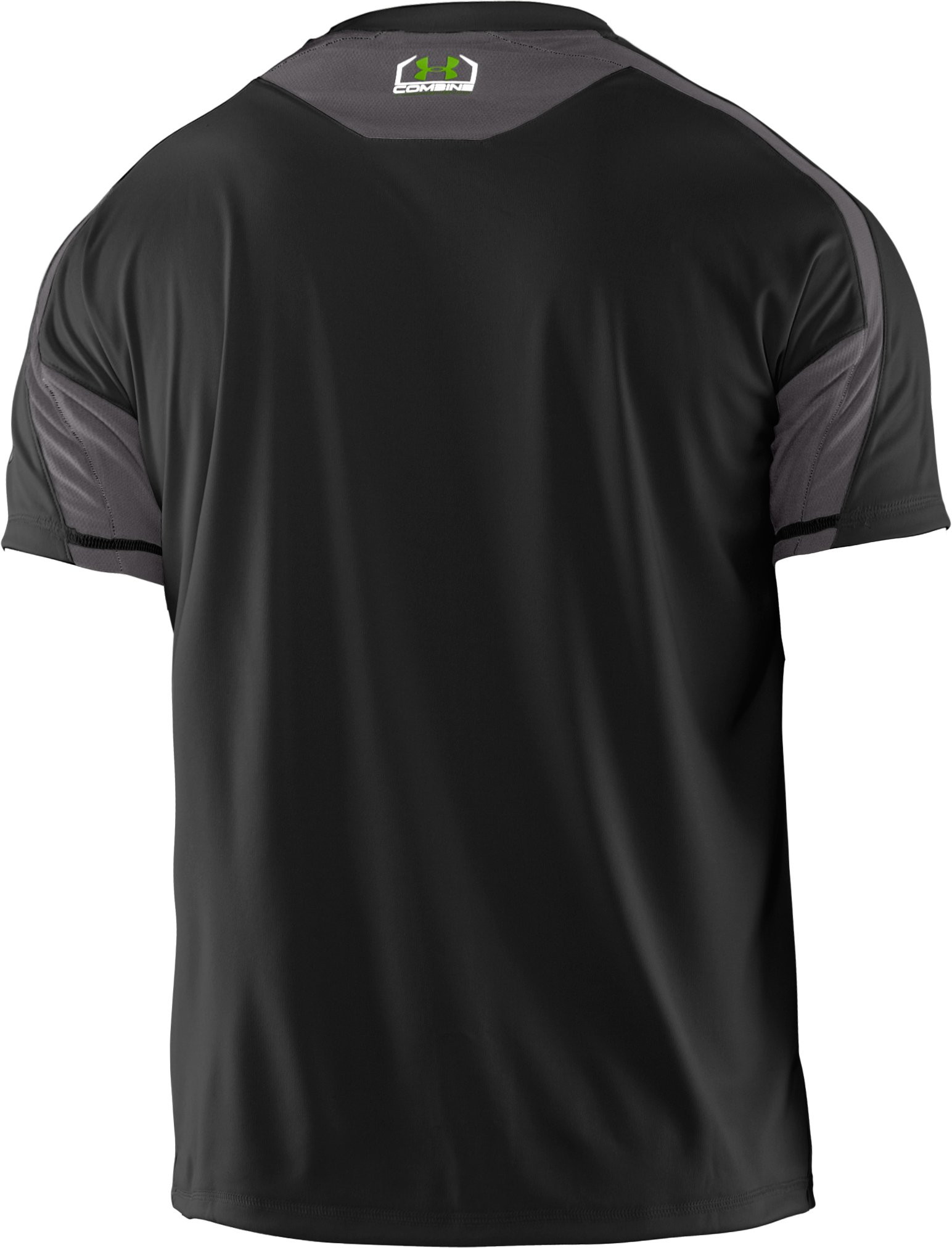Men's UA Combine® Training Short Sleeve T-Shirt, Black ,