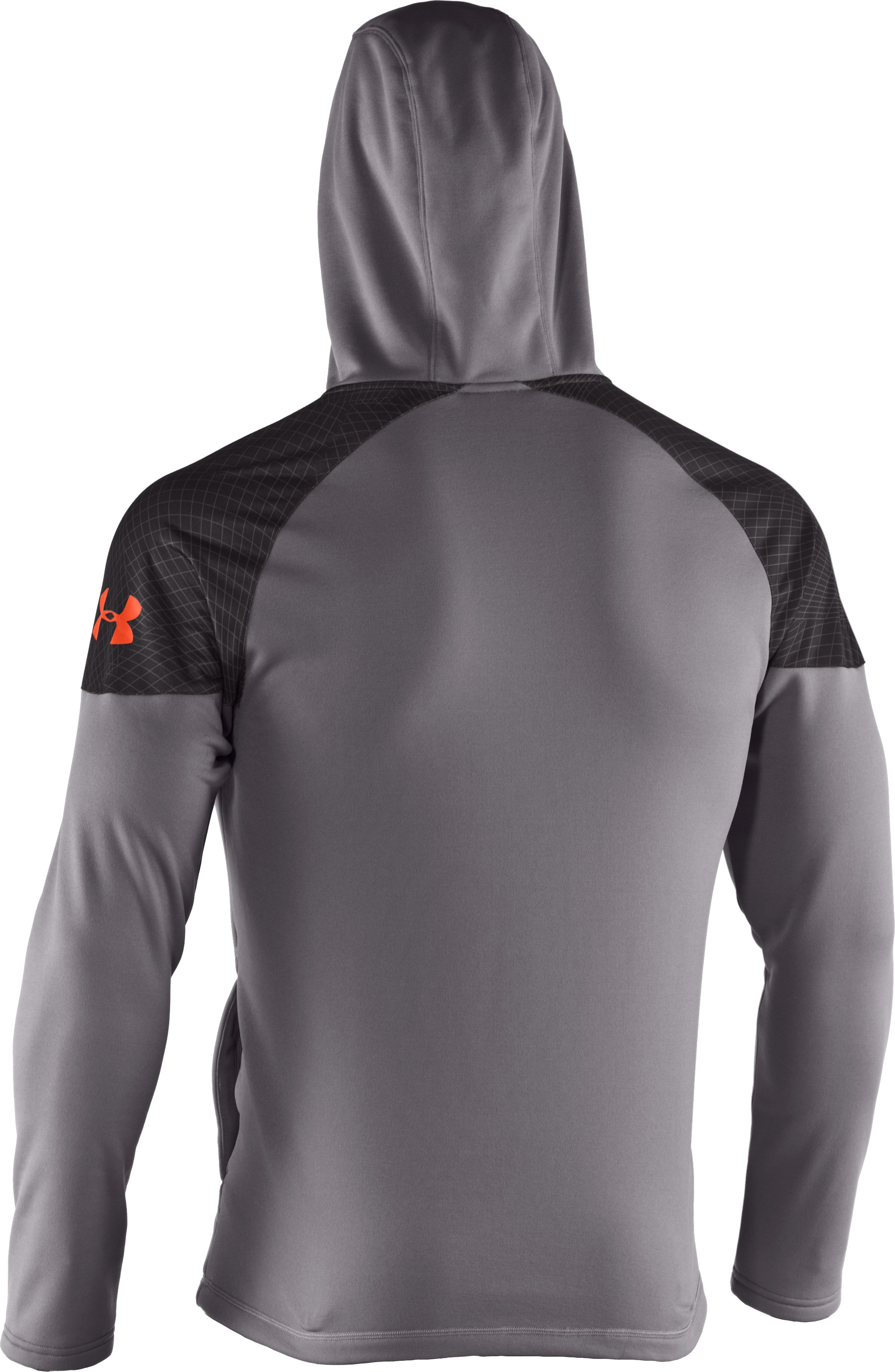 Men's UA Combine® Training Fleece Pullover Hoodie, Concrete