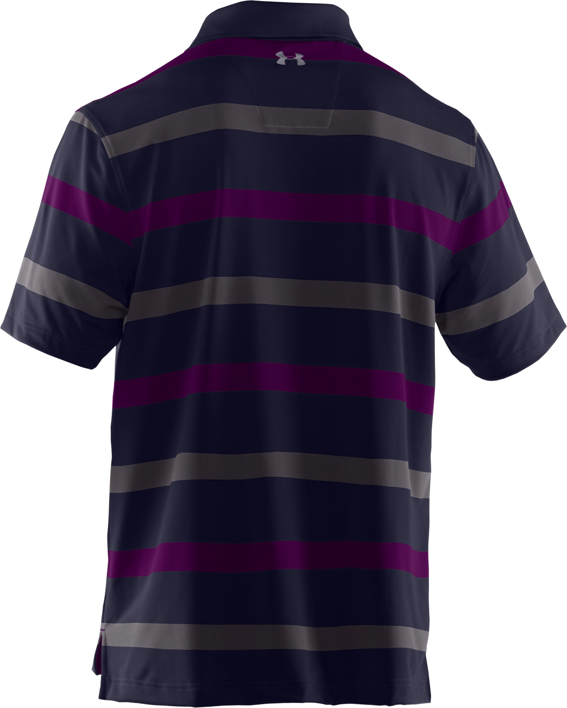 Men's UA Performance Bold Stripe Polo, Concrete, undefined
