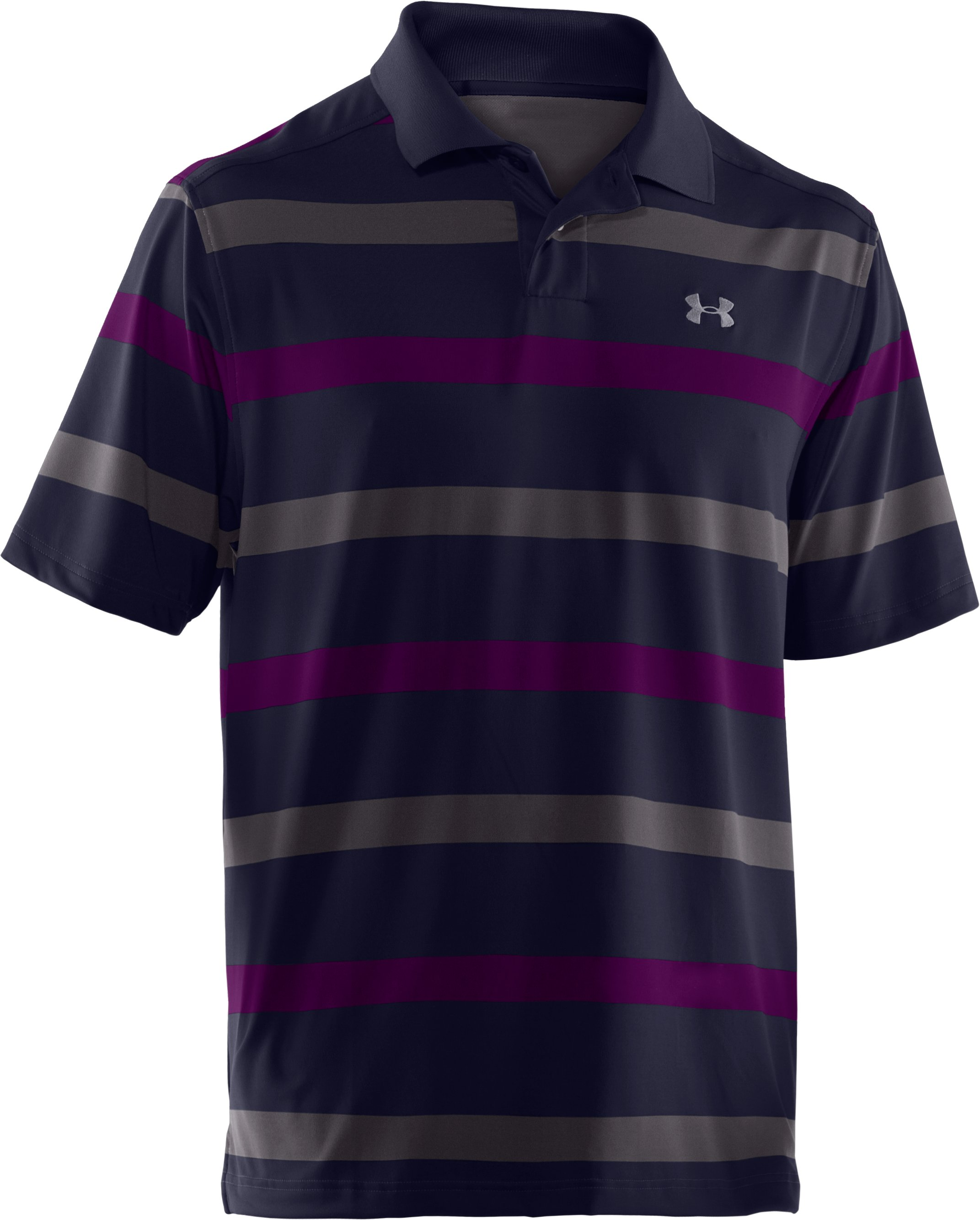 Men's UA Performance Bold Stripe Polo, Concrete