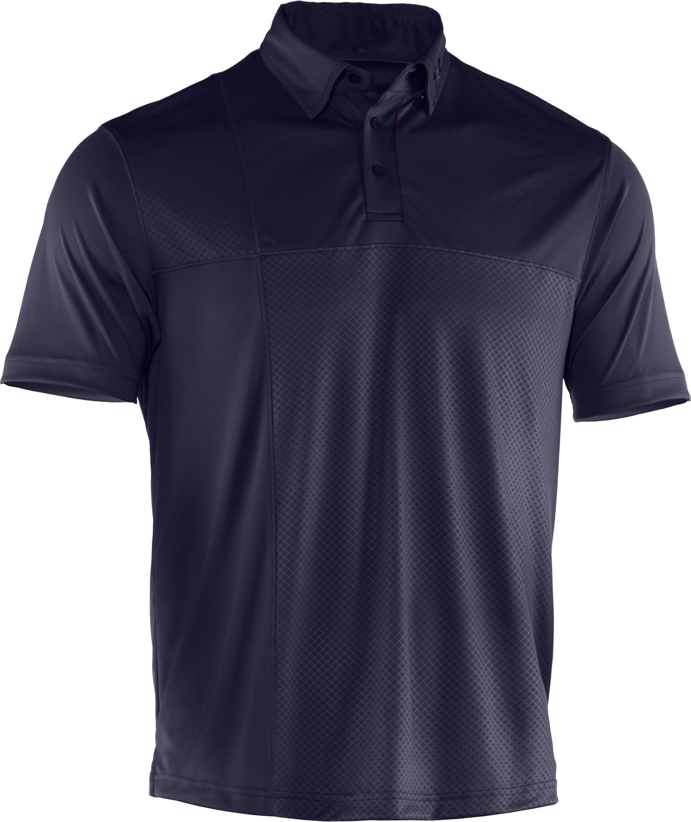 Men's UA Performance Embossed CB Polo, Midnight Navy