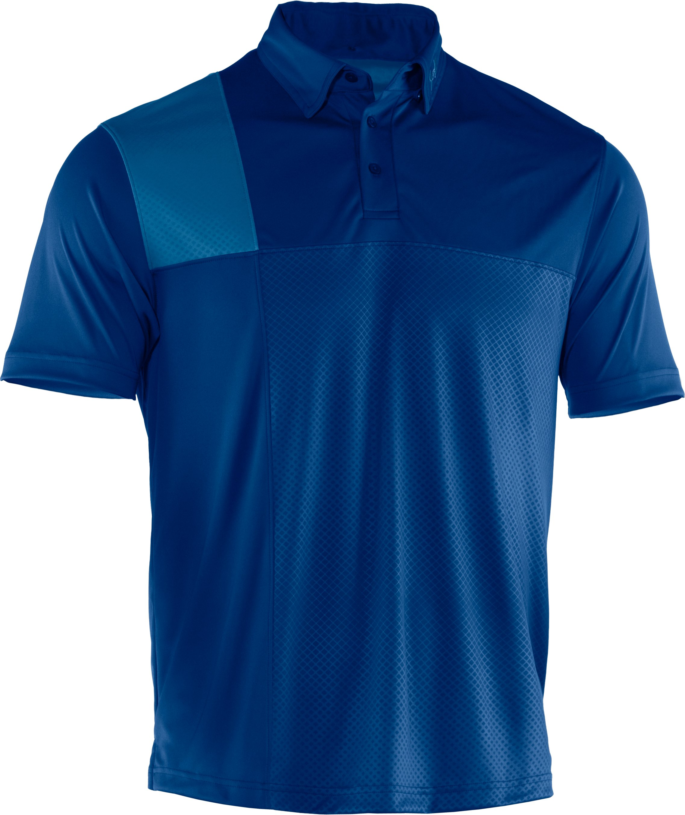 Men's UA Performance Embossed CB Polo, EMPIRE BLUE