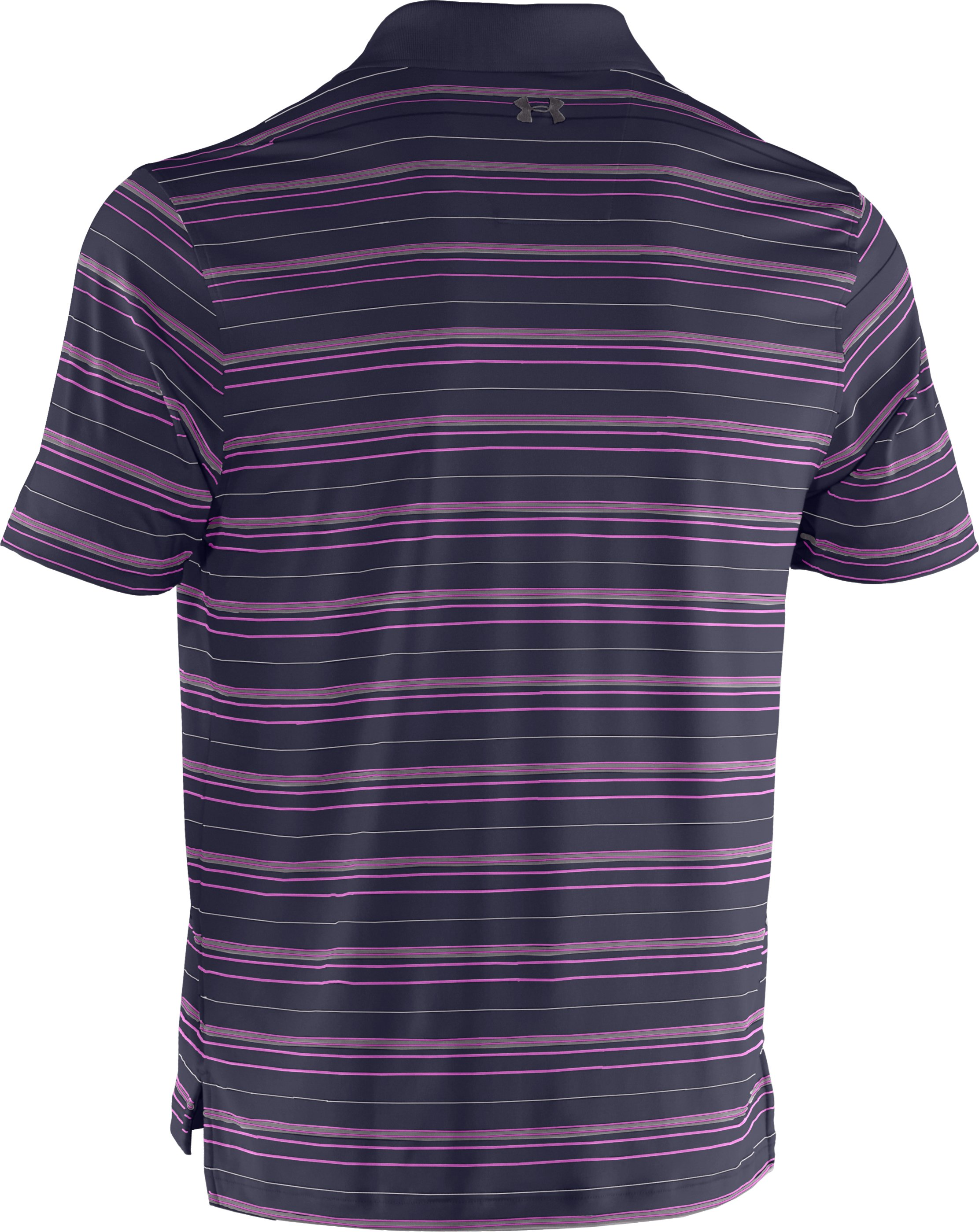 Men's UA Performance Stripe Polo, Midnight Navy, undefined