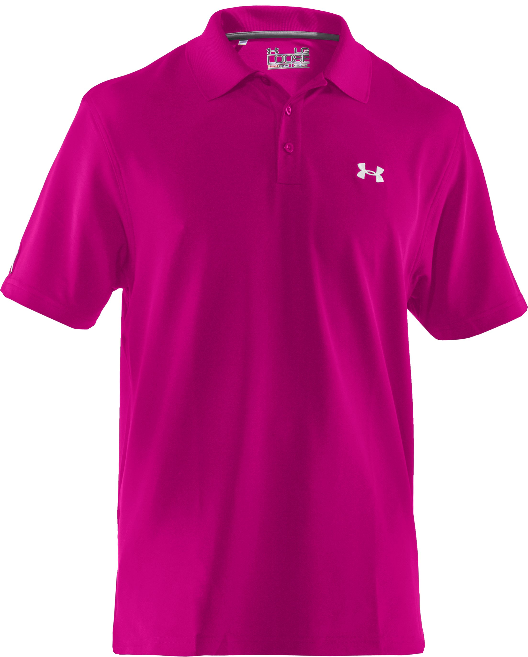 Men's UA PIP® Performance Polo, Tropic Pink,