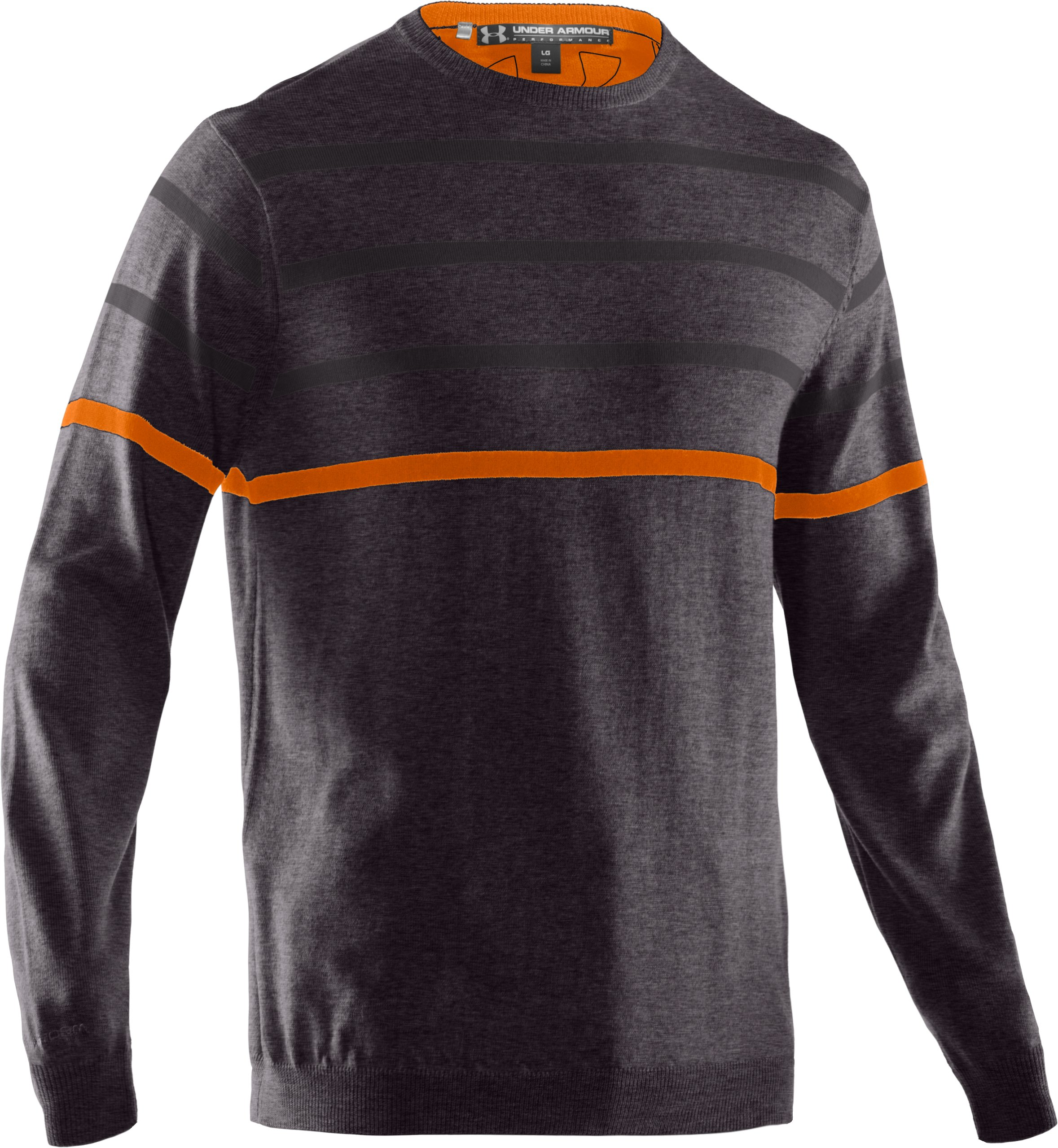 Men's UA Ultimate Crew Sweater, Carbon Heather,