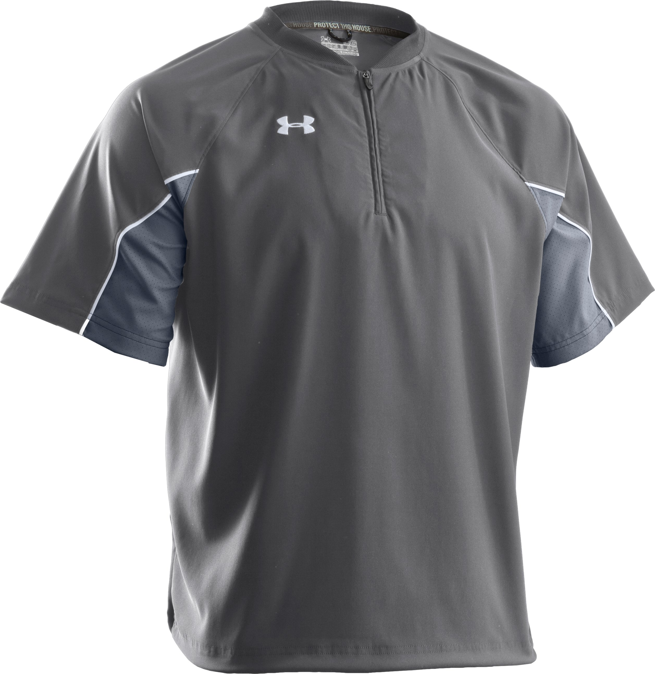 Men's UA Contender Cage Baseball Jacket, Graphite