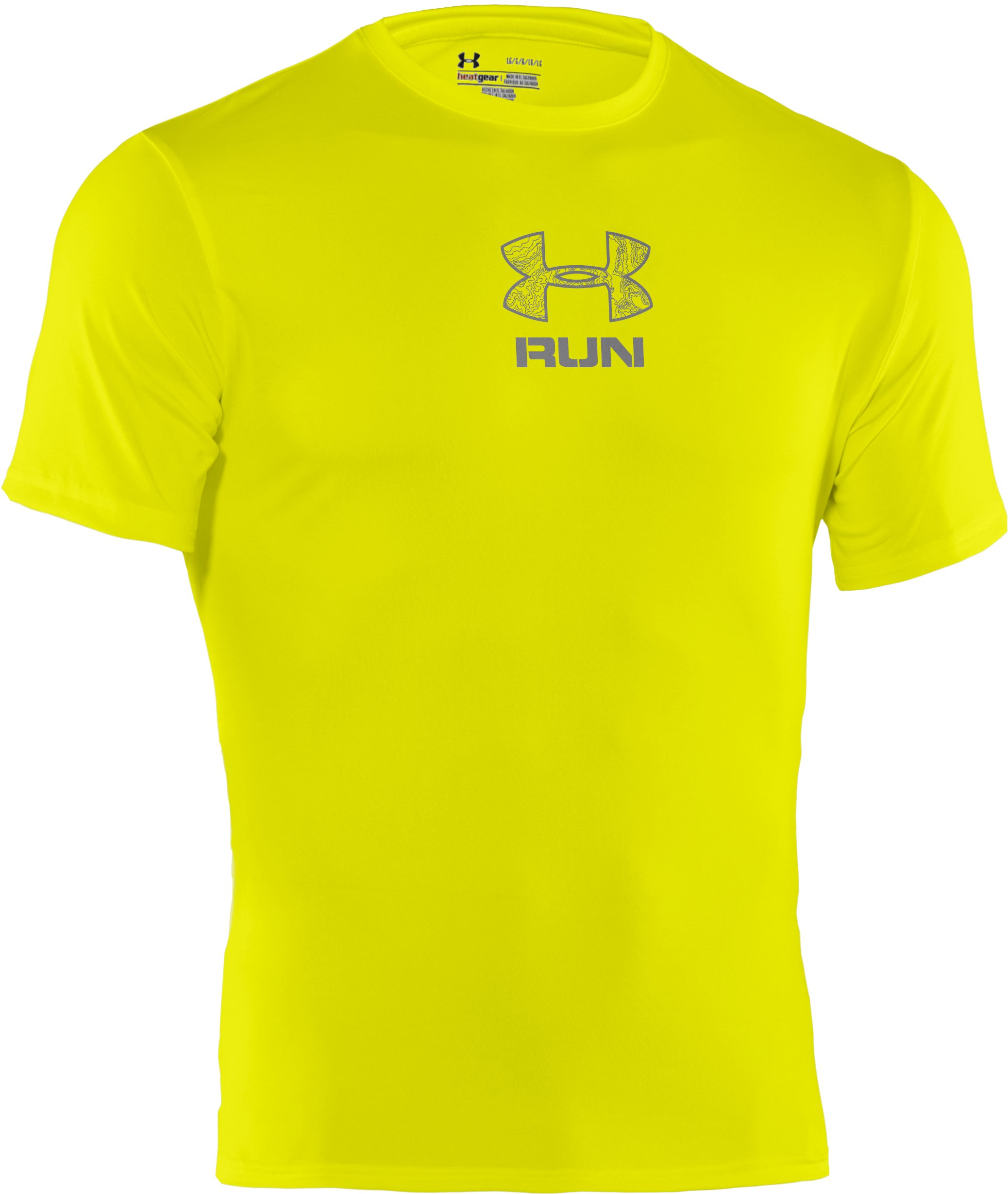 Men's UA Tough Run Graphic T-Shirt, High-Vis Yellow,