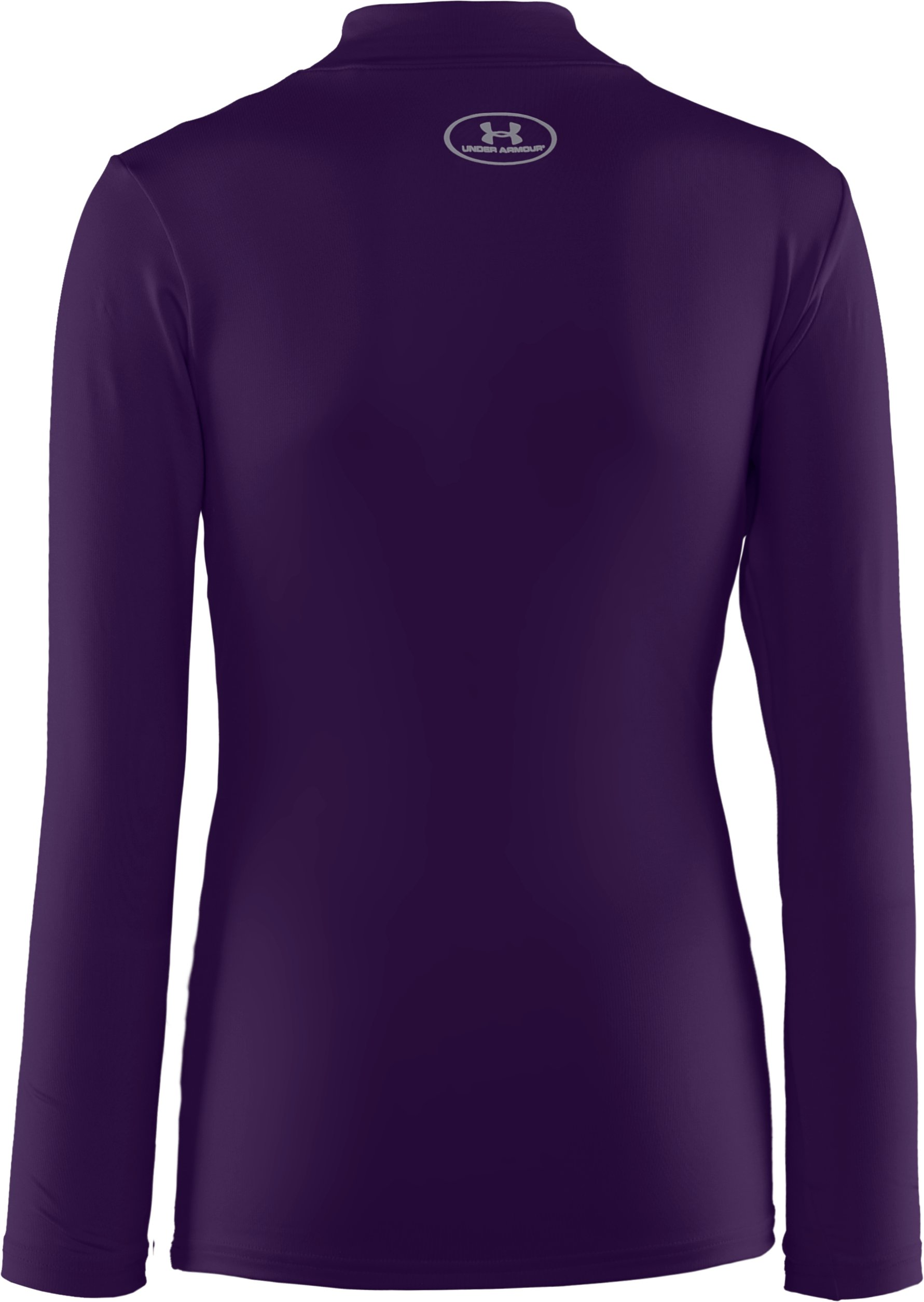 Boys' ColdGear® Evo Fitted Baselayer Mock, Purple