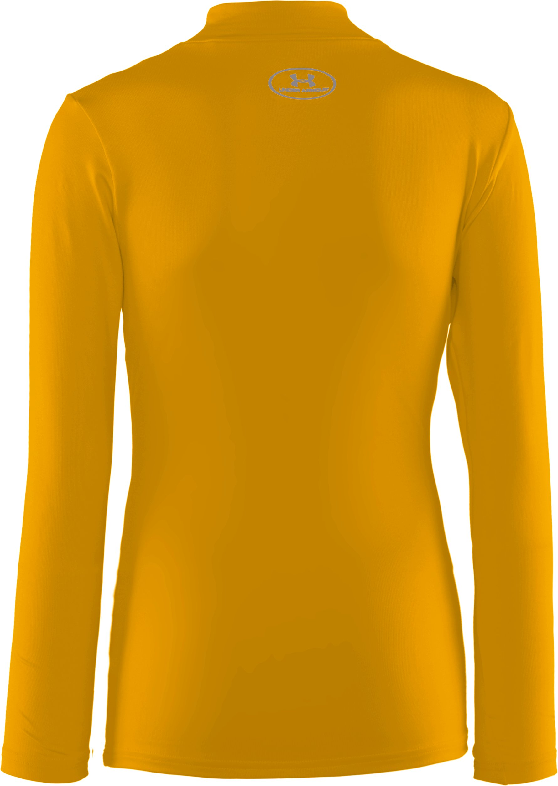 Boys' ColdGear® Evo Fitted Baselayer Mock, Steeltown Gold, undefined