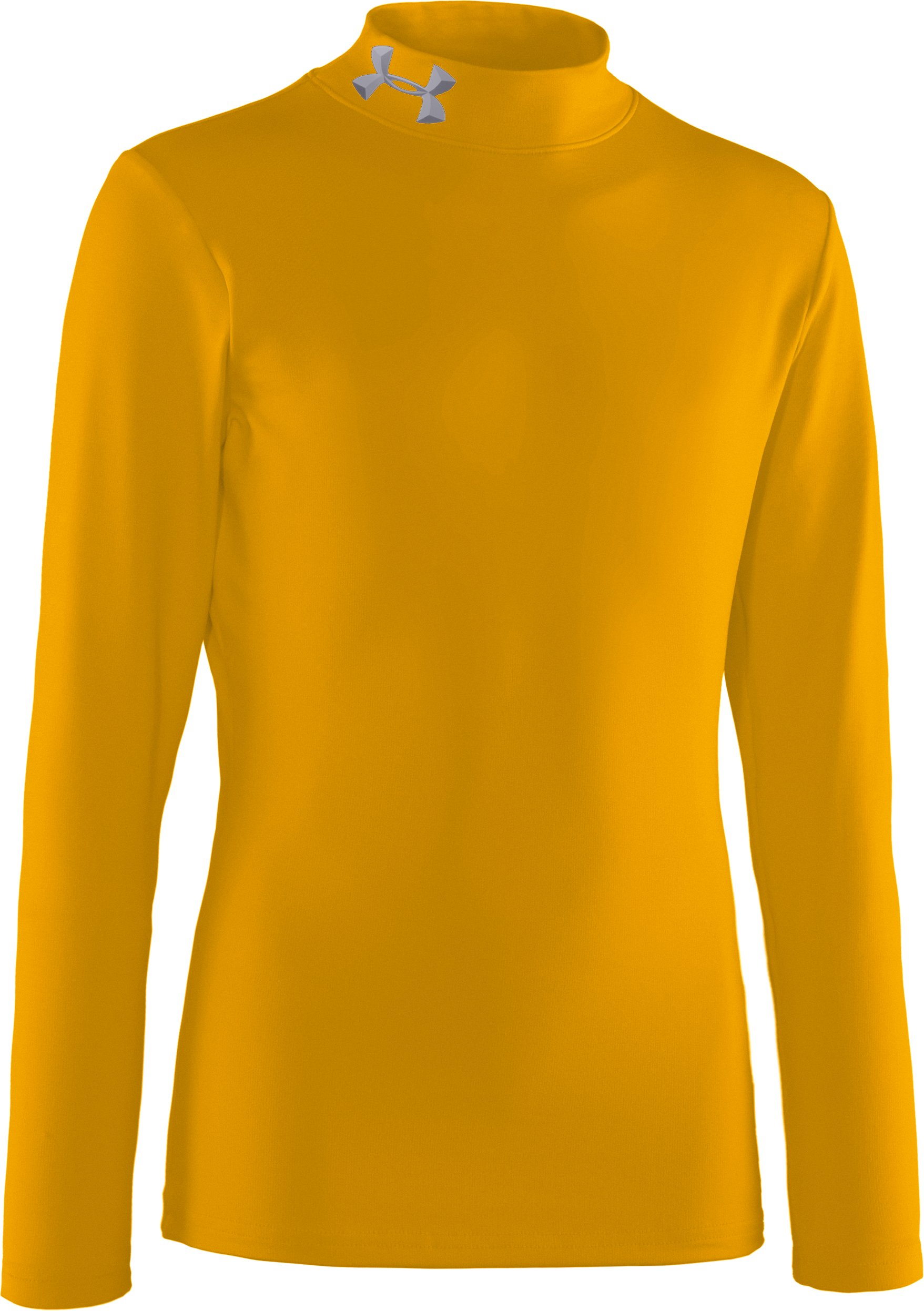 Boys' ColdGear® Evo Fitted Baselayer Mock, Steeltown Gold