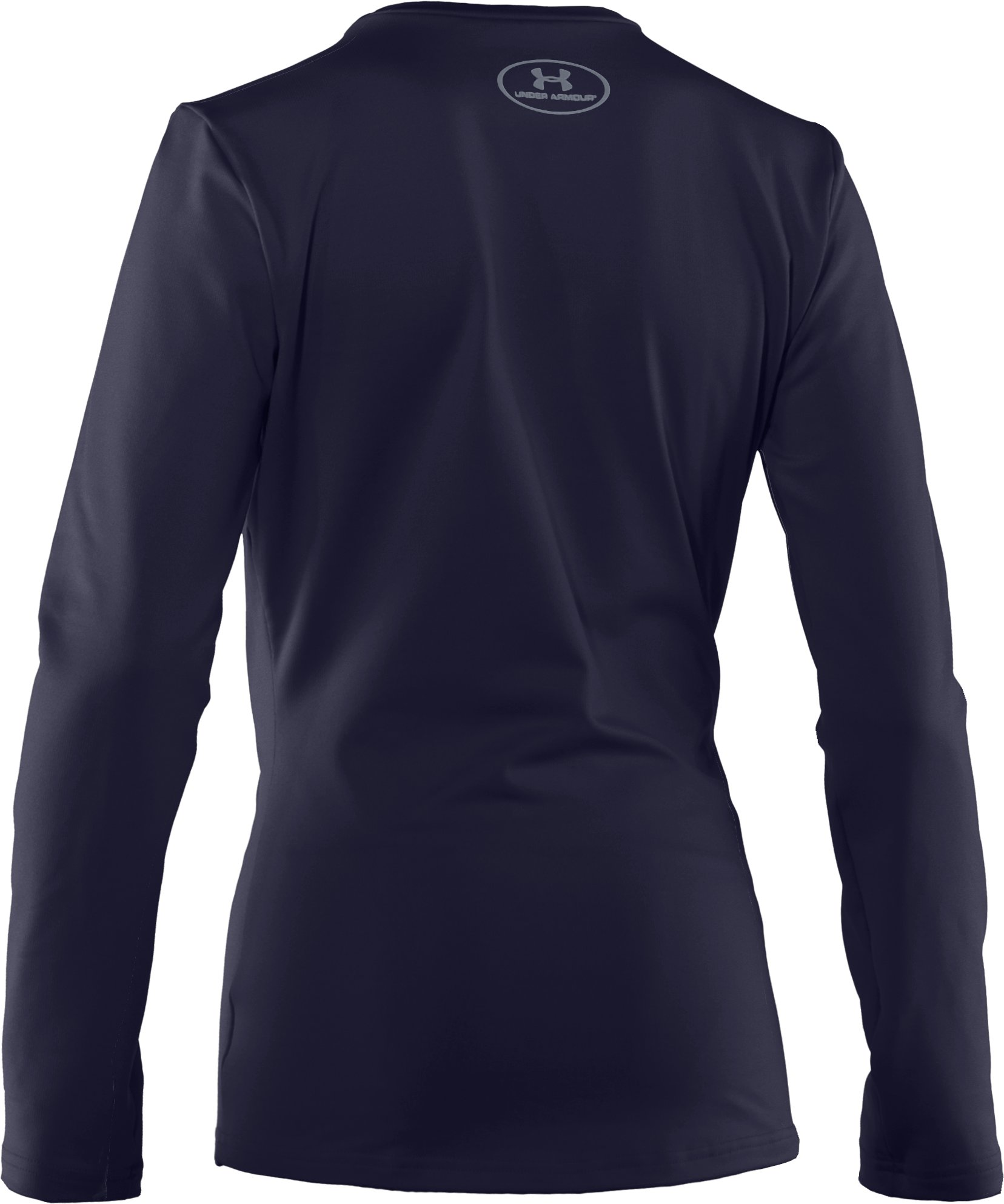 Boys' ColdGear® Evo Fitted Baselayer Crew, Midnight Navy, undefined