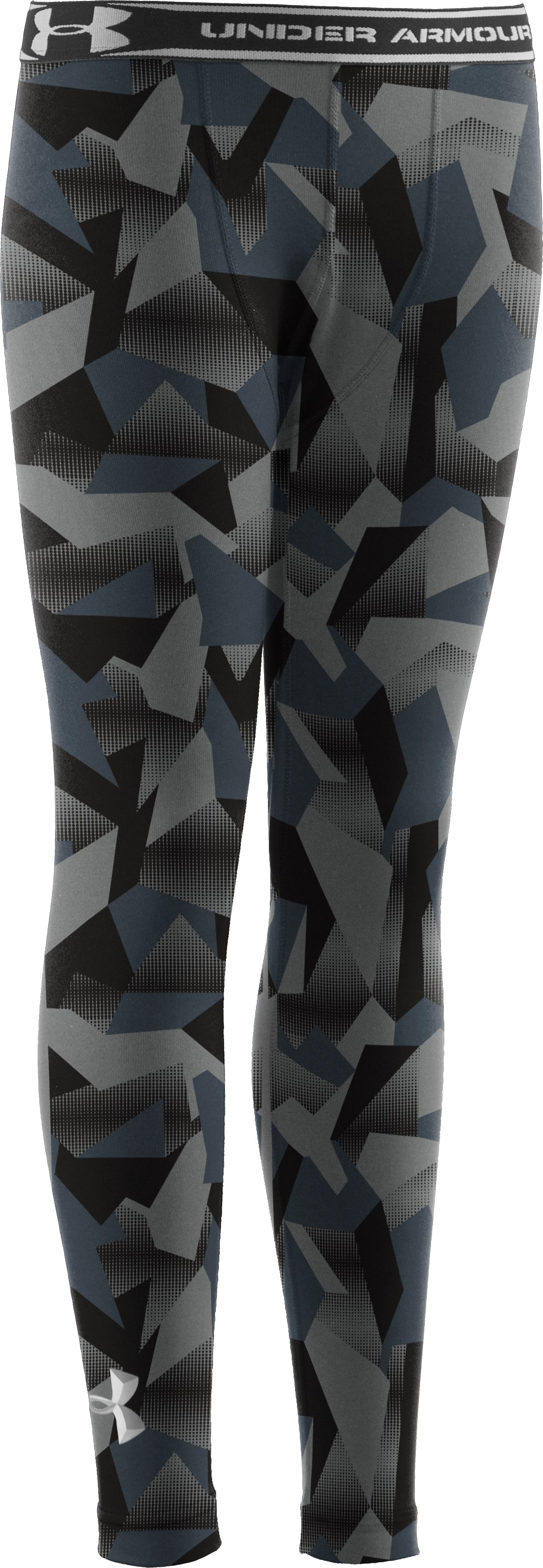 Boys' ColdGear® Evo Fitted Baselayer Tights, Charcoal