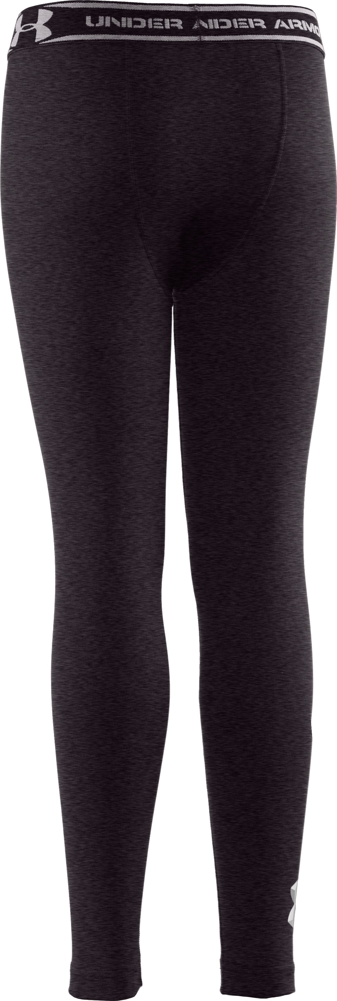 Boys' ColdGear® Evo Fitted Baselayer Tights, Carbon Heather, undefined