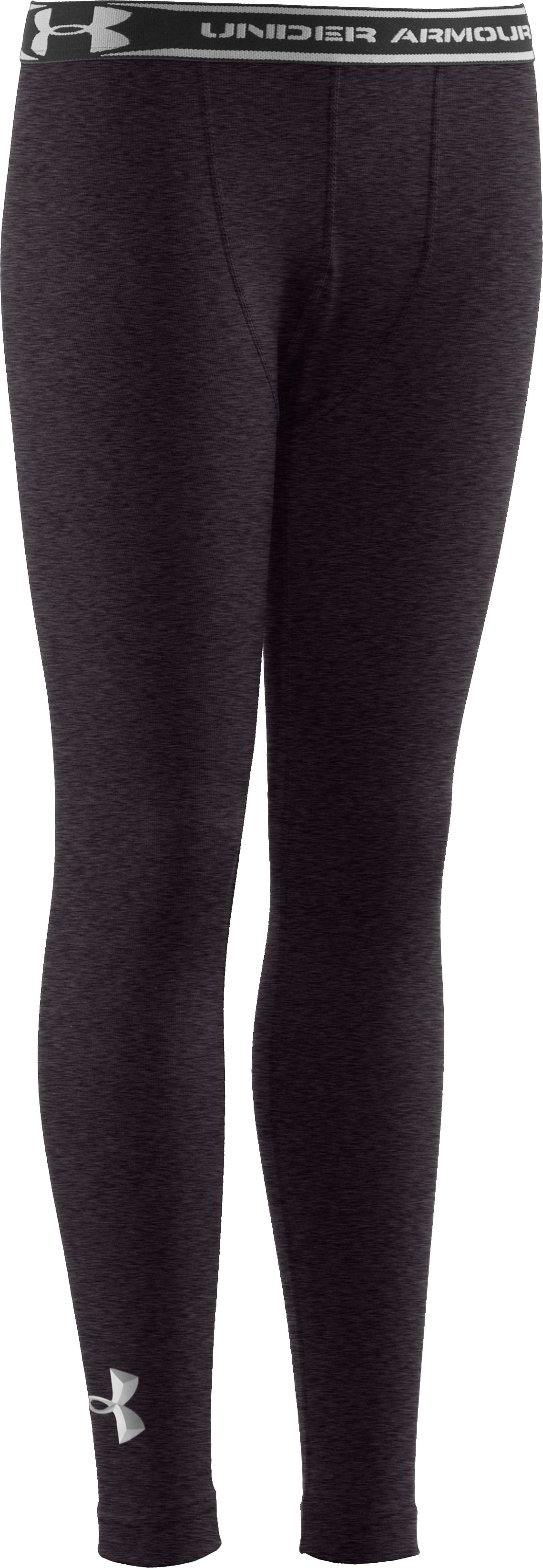 Boys' ColdGear® Evo Fitted Baselayer Tights, Carbon Heather