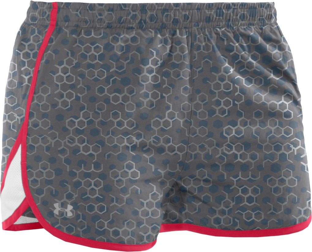 "Women's UA Escape Printed 3"" Shorts, Graphite"