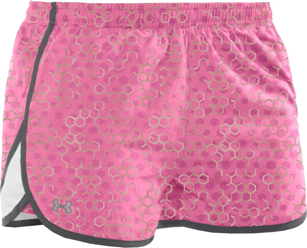 "Women's UA Escape Printed 3"" Shorts, Fluo Pink"