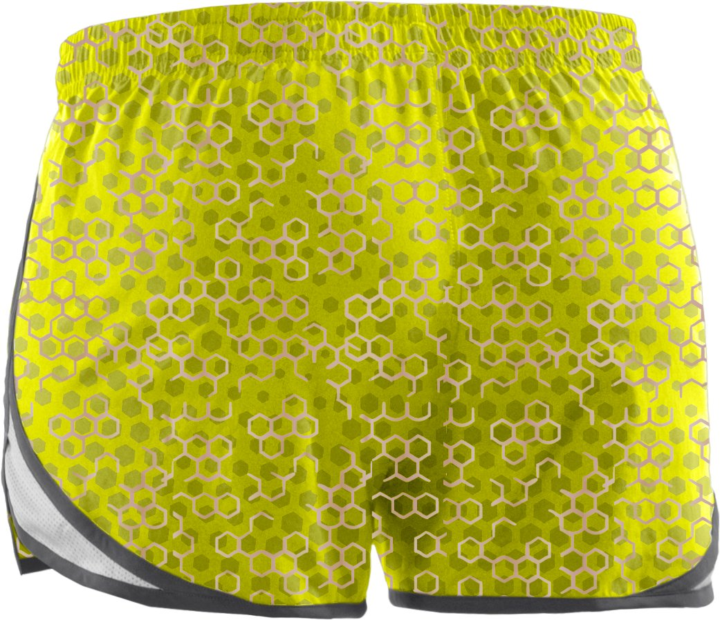 "Women's UA Escape Printed 3"" Shorts, High-Vis Yellow"