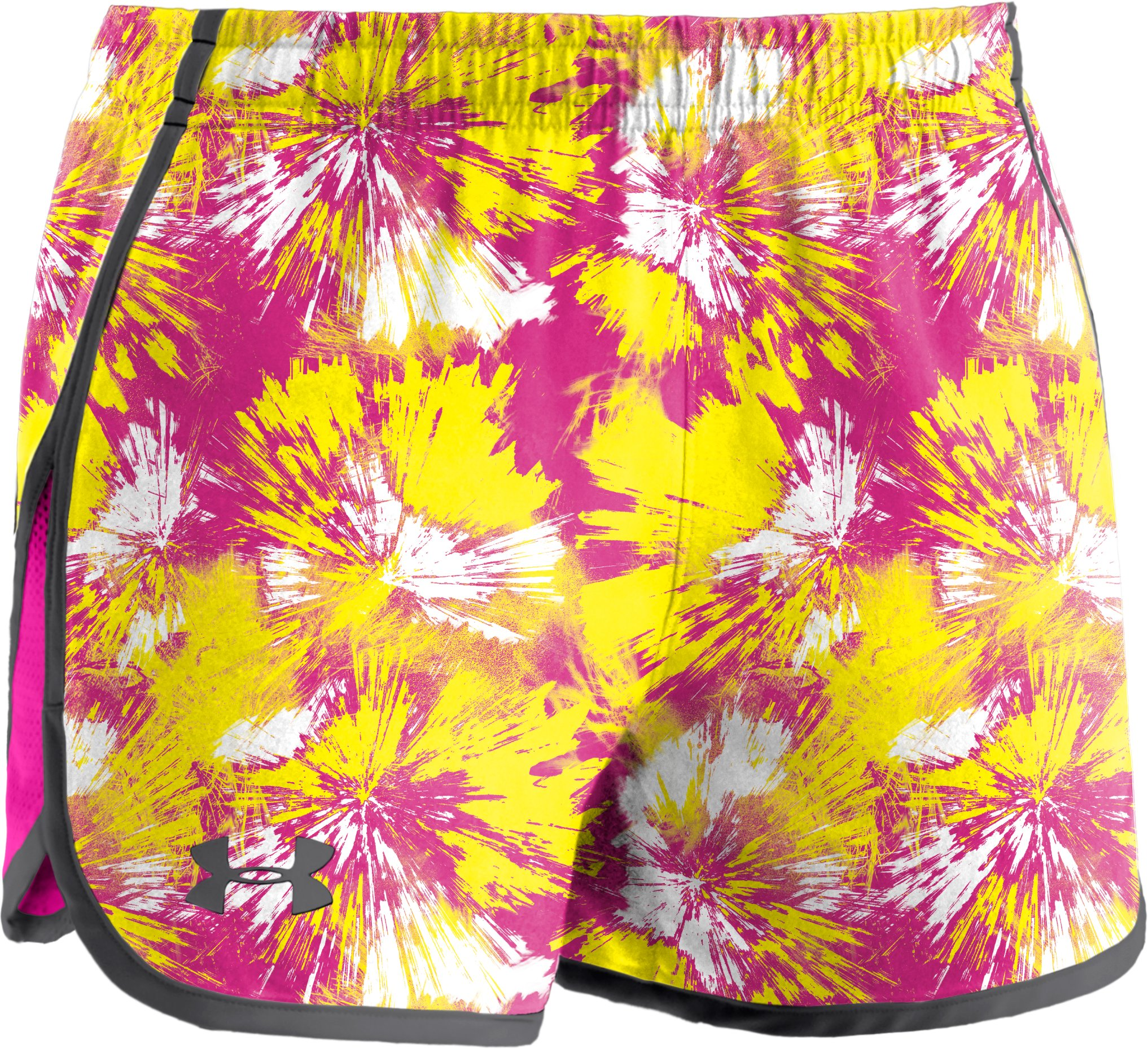 "Girls' UA Escape 3"" Printed Shorts, Tropic Pink,"