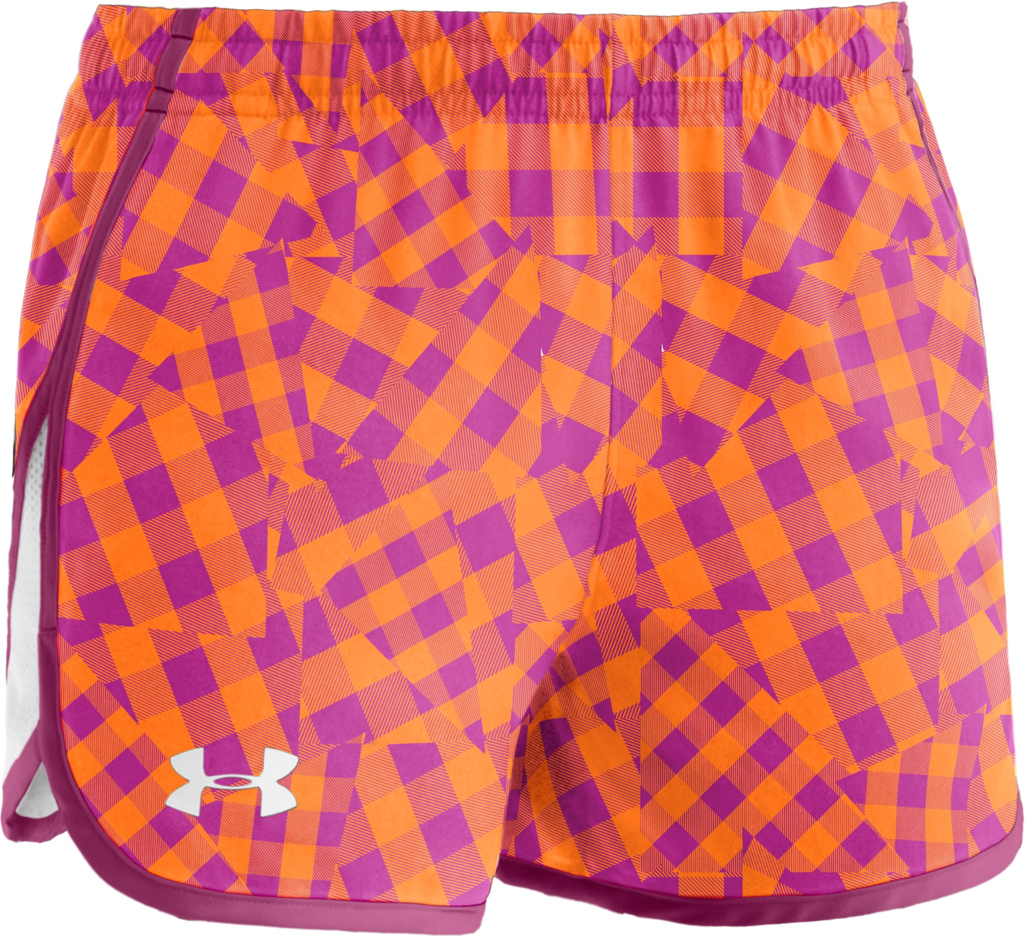 "Girls' UA Escape 3"" Printed Shorts, Hipster, zoomed image"
