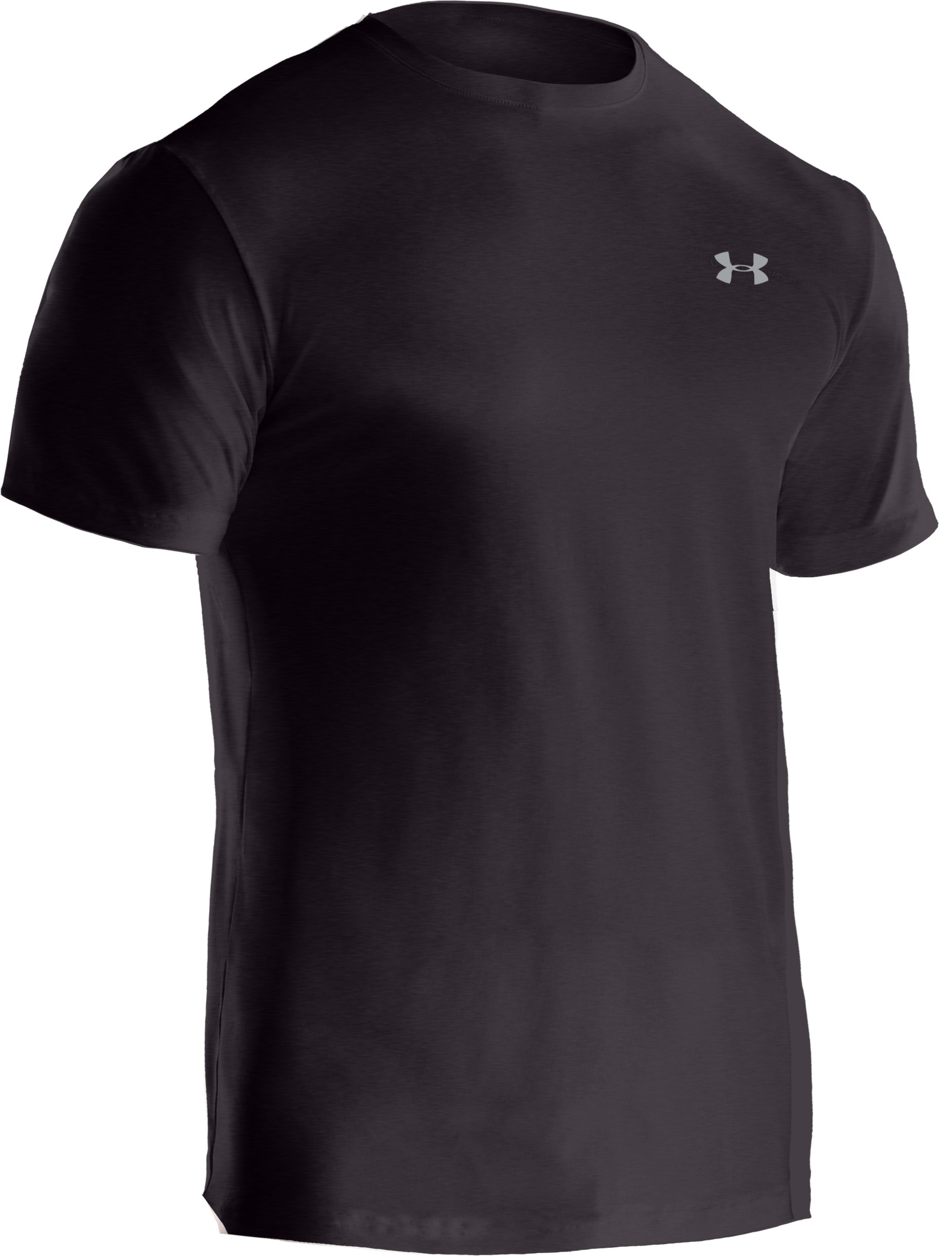 Men's UA Touch Crew Undershirt, Carbon Heather