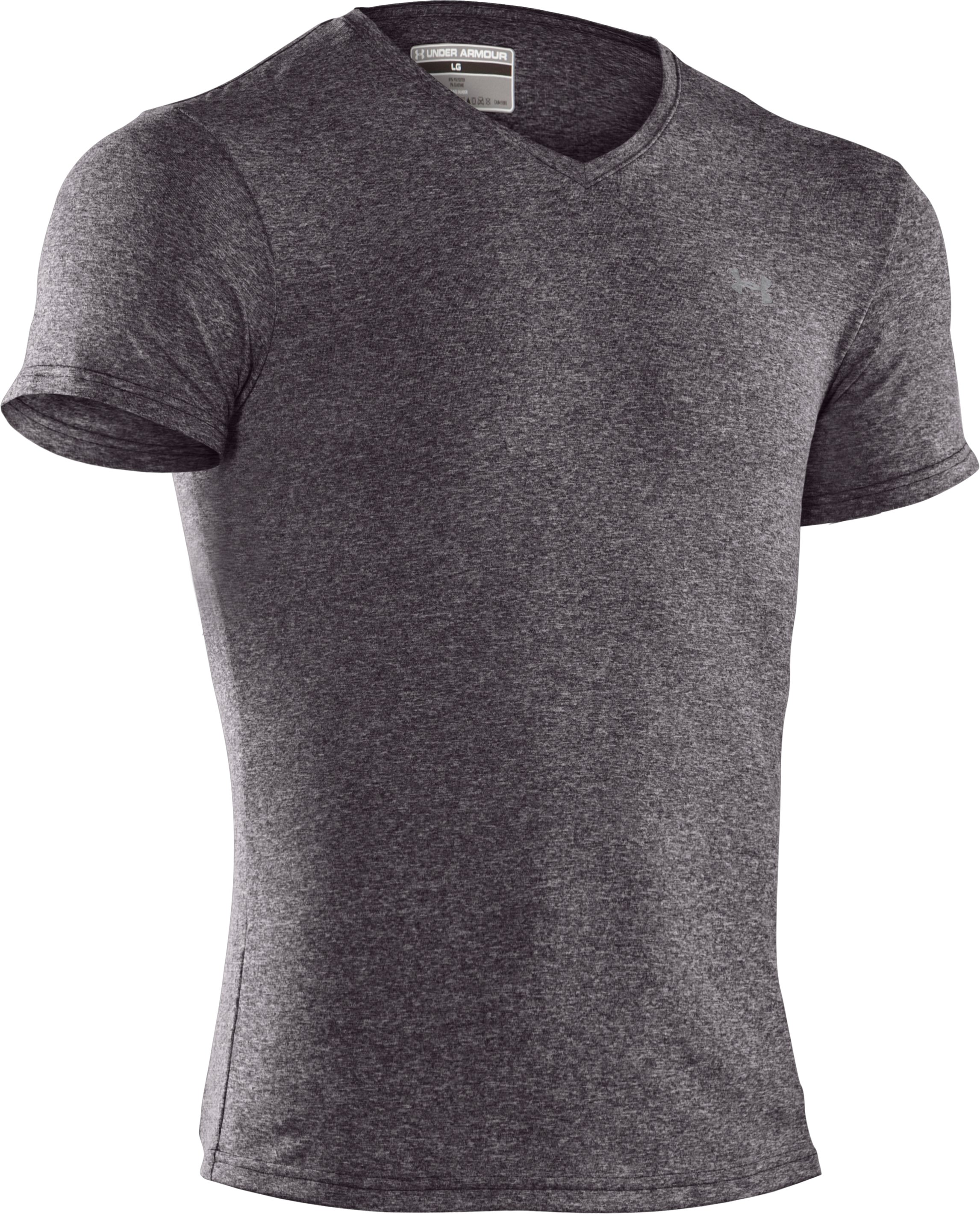 Men's UA Touch V-Neck Undershirt, Carbon Heather