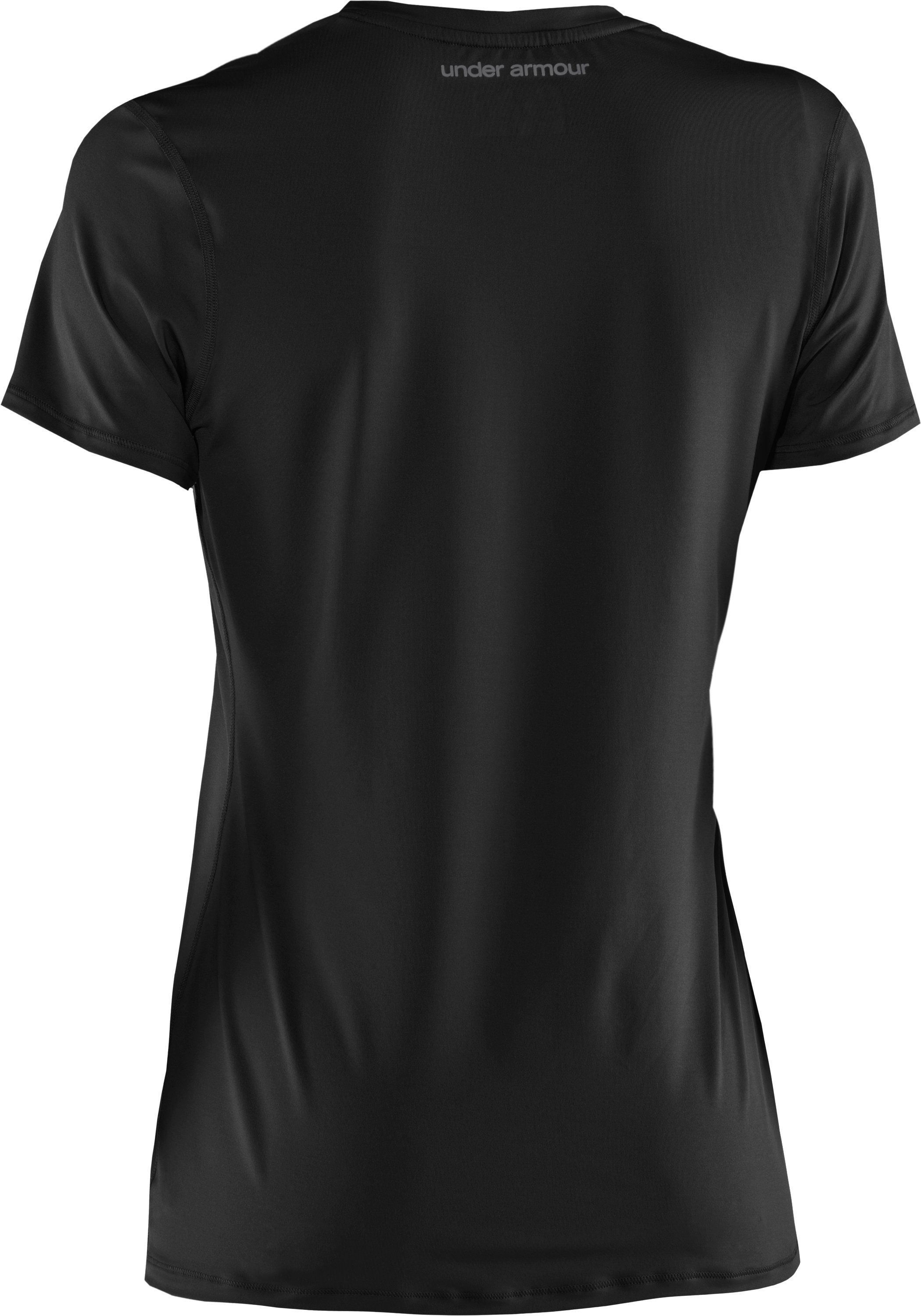 Women's HeatGear® Sonic Short Sleeve, Black , undefined