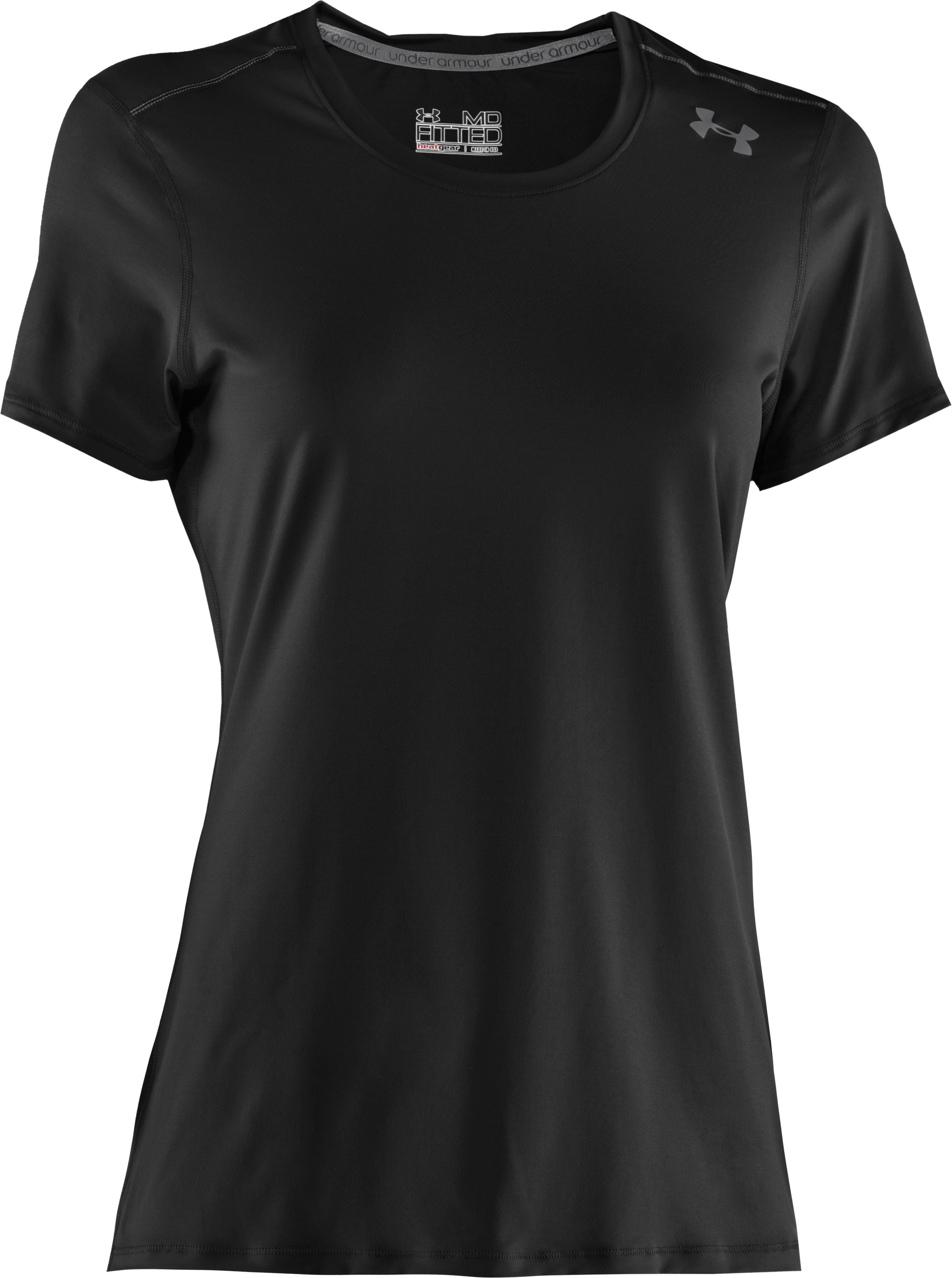 Women's HeatGear® Sonic Short Sleeve, Black