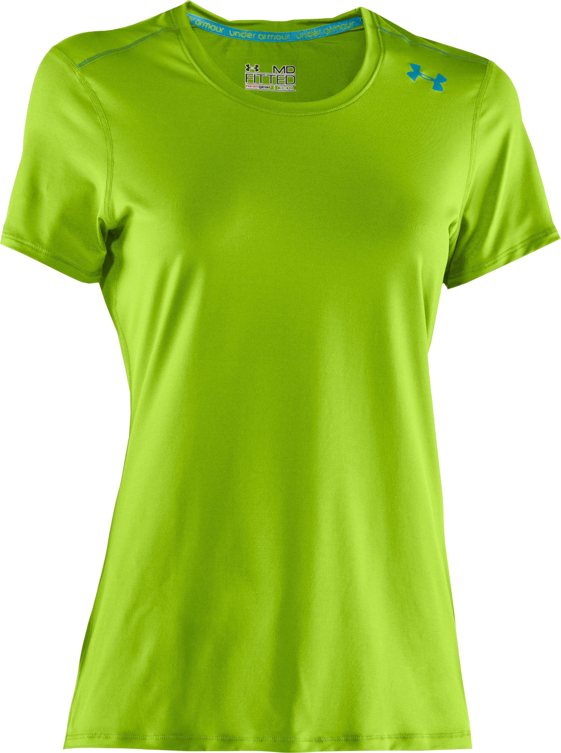 Women's HeatGear® Sonic Short Sleeve, Fusion