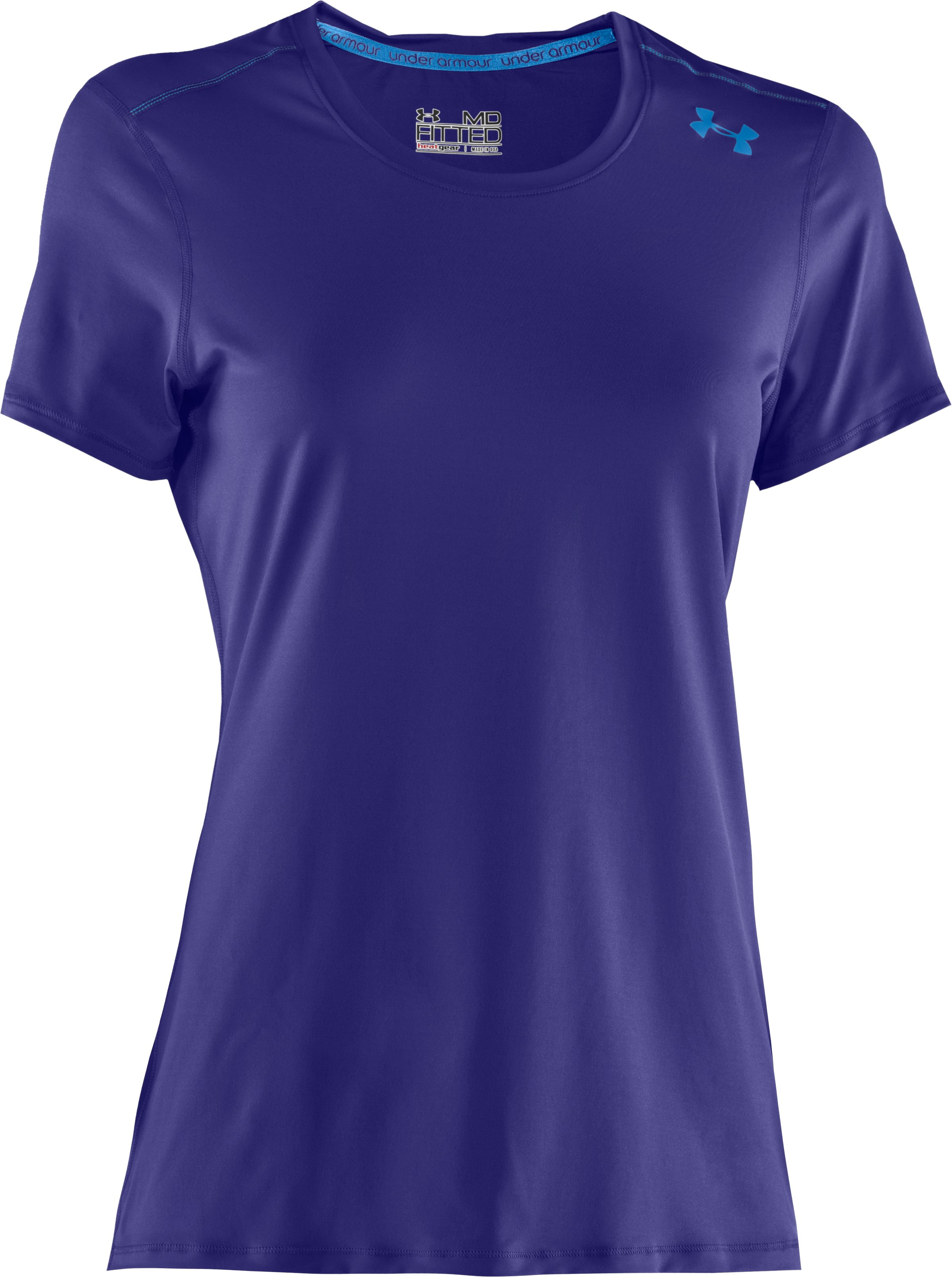 Women's HeatGear® Sonic Short Sleeve, Monarchy, undefined