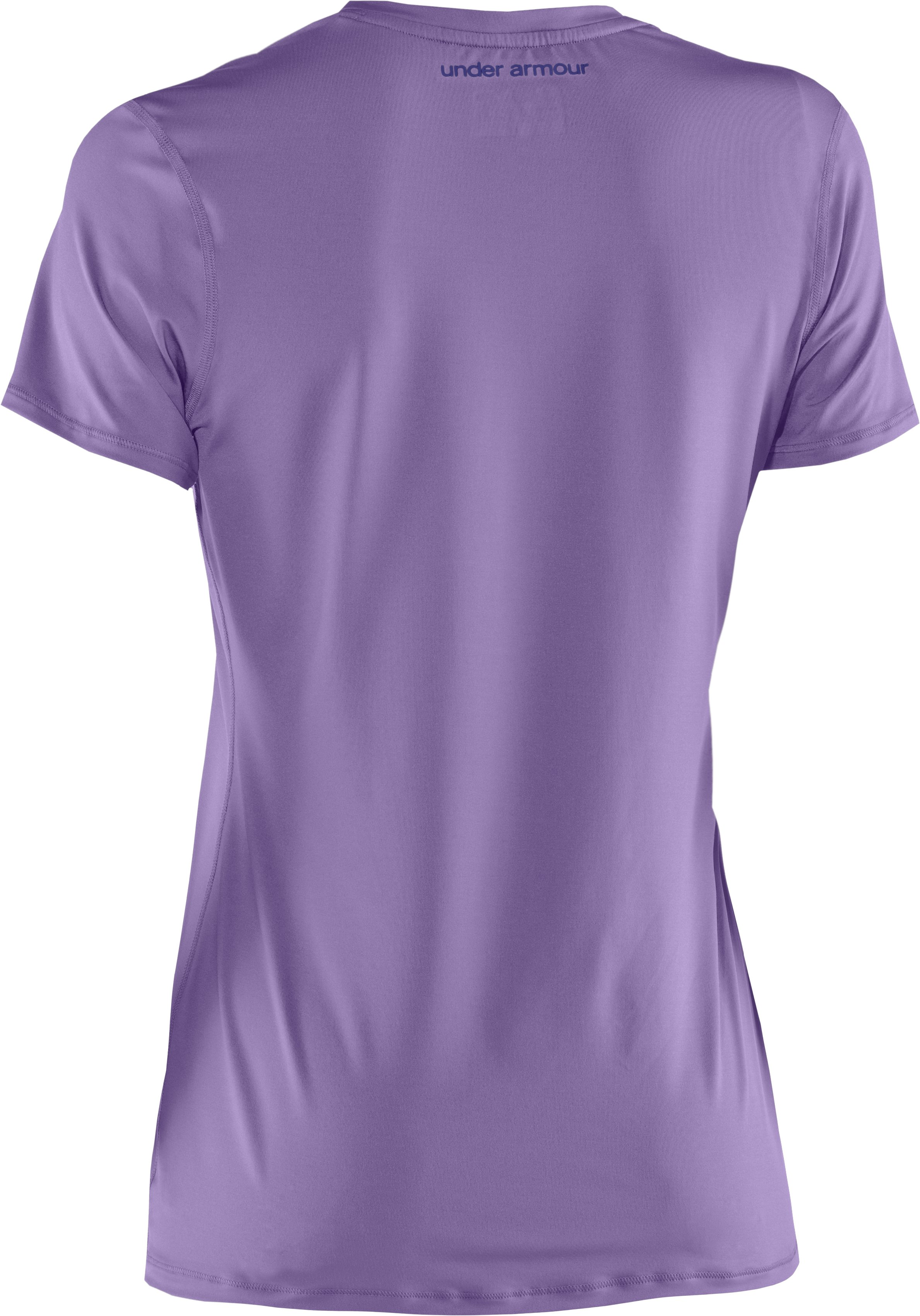 Women's HeatGear® Sonic Short Sleeve, Petunia, undefined