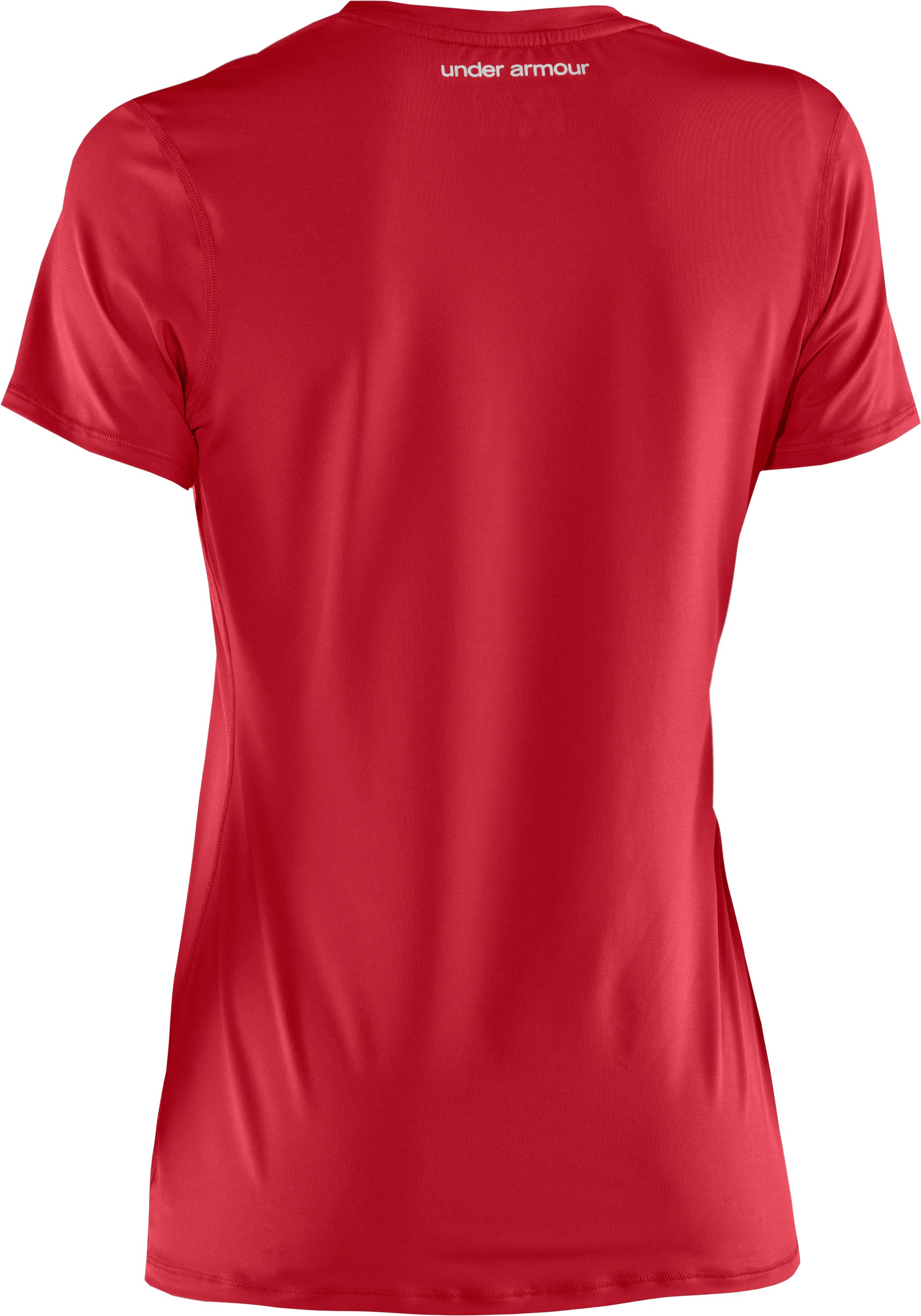 Women's HeatGear® Sonic Short Sleeve, Red