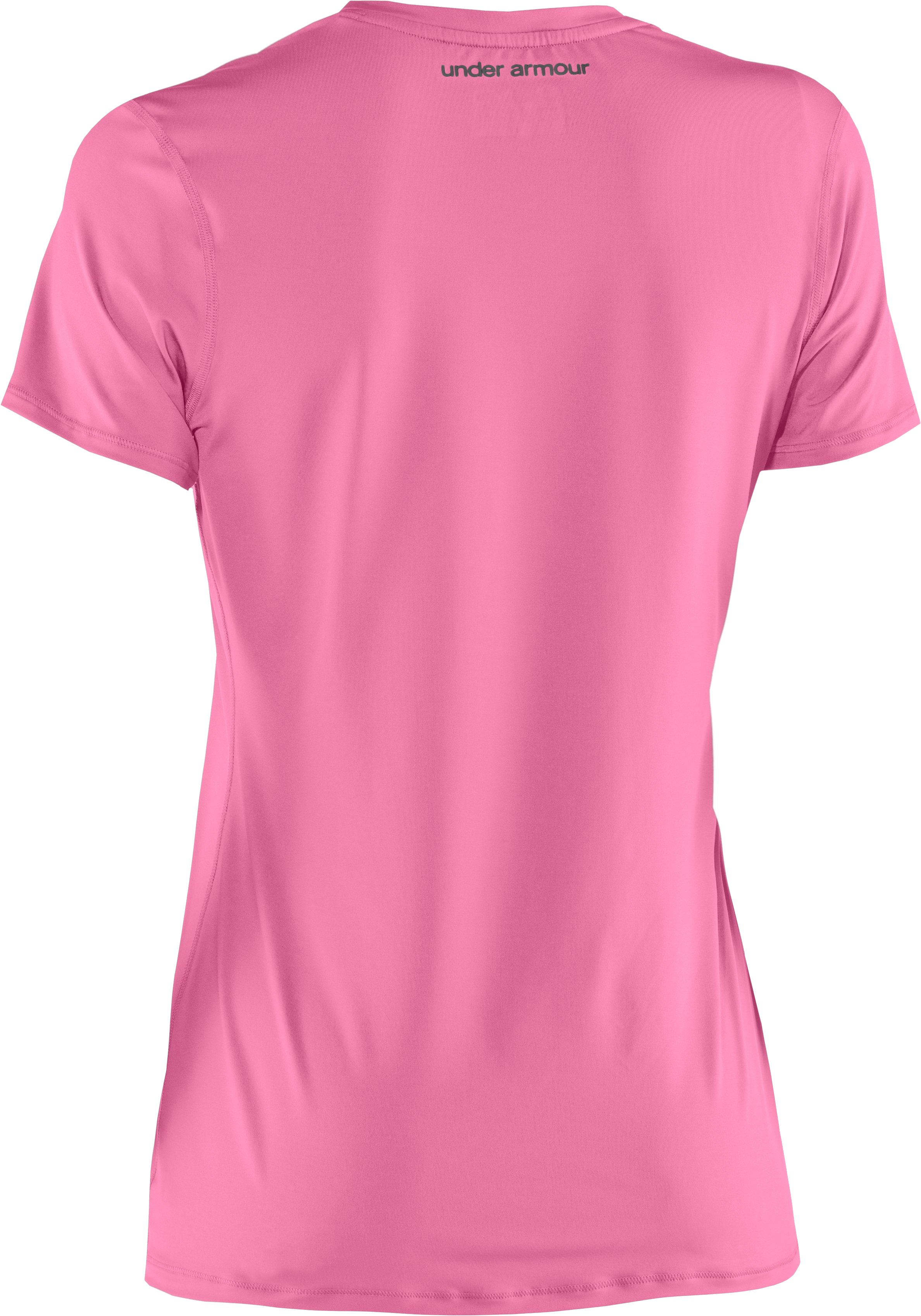 Women's HeatGear® Sonic Short Sleeve, Fluo Pink