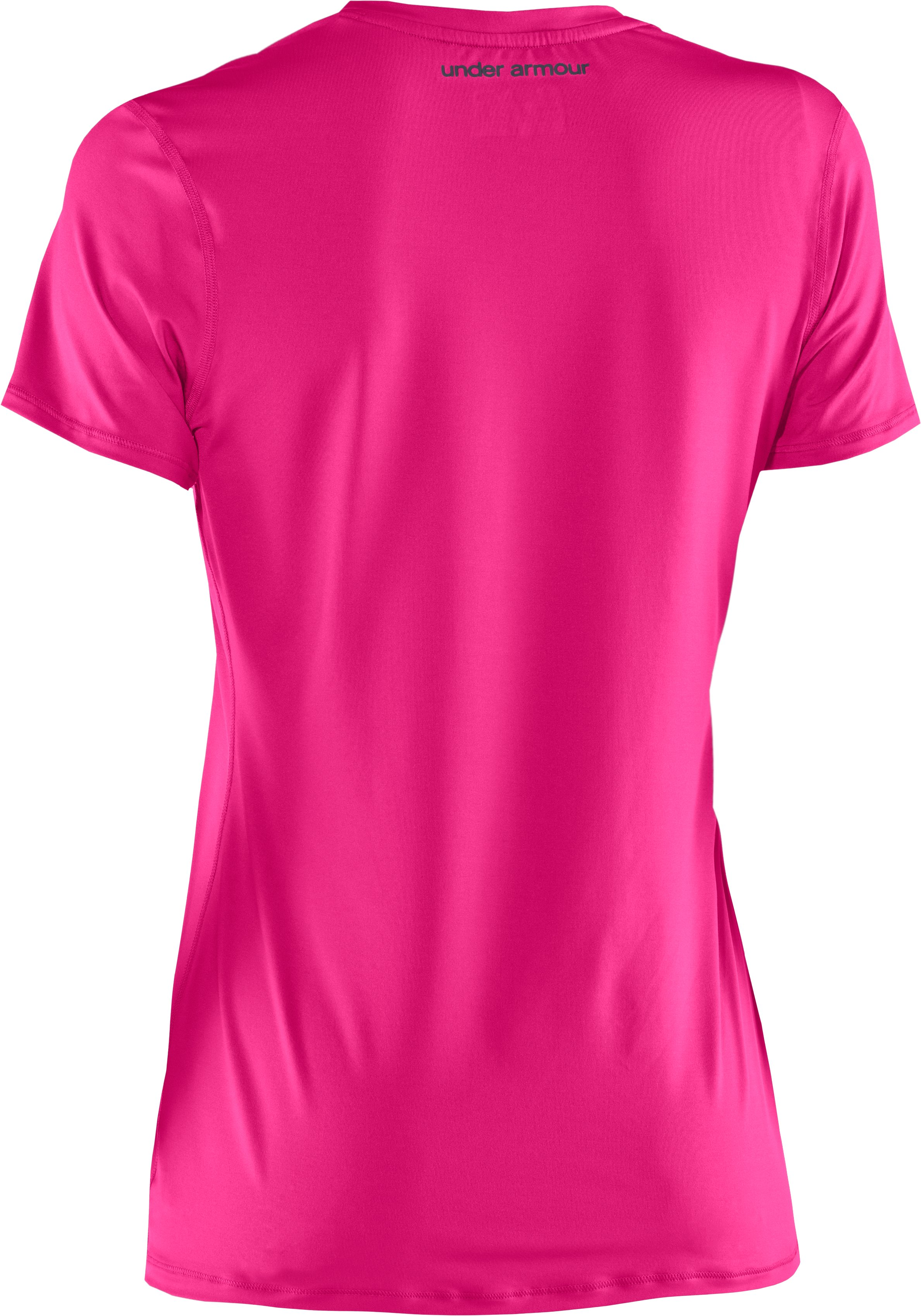Women's HeatGear® Sonic Short Sleeve, PINKADELIC, undefined