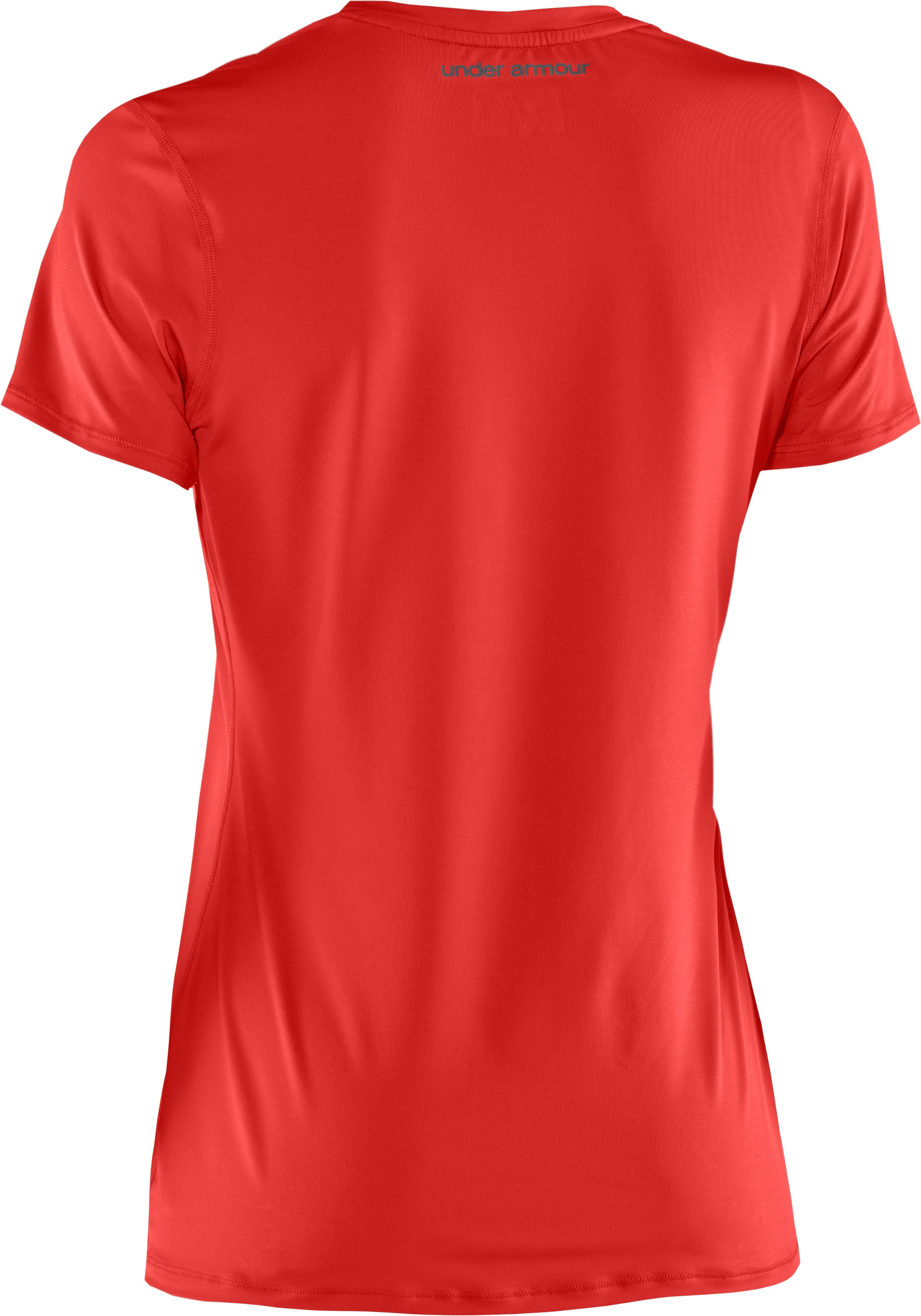 Women's HeatGear® Sonic Short Sleeve, Fire,
