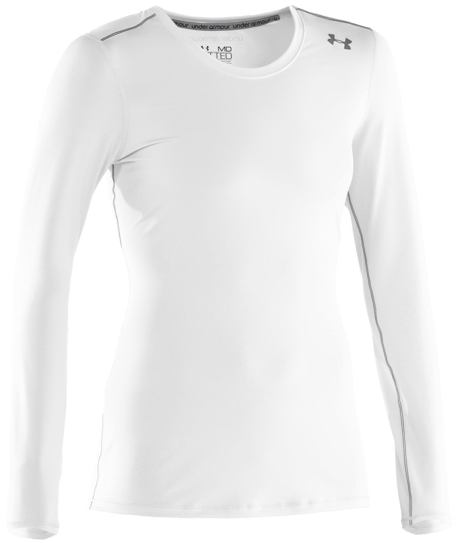 Women's HeatGear® Sonic Long Sleeve, White
