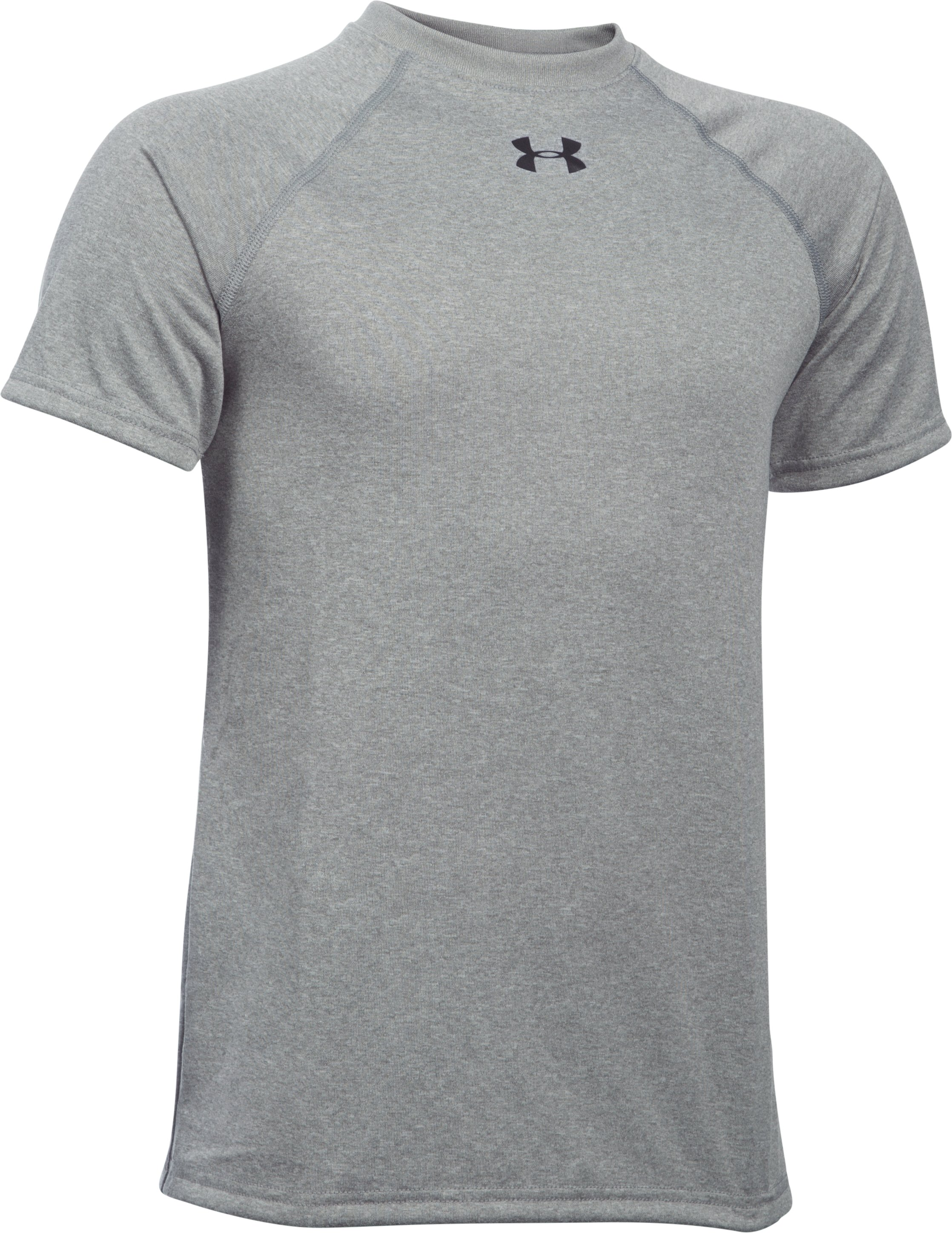 Boys' UA Locker Short Sleeve T-Shirt, True Gray Heather