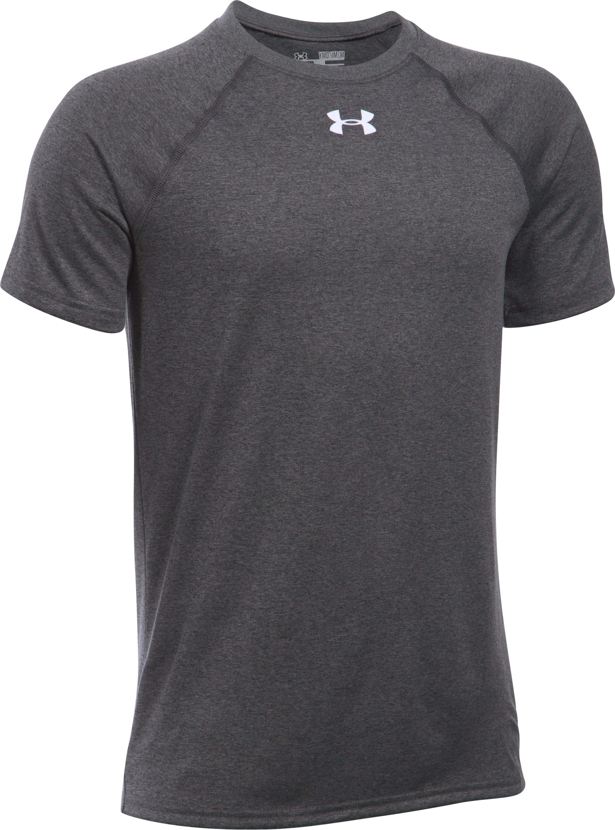 Boys' UA Locker Short Sleeve T-Shirt, Carbon Heather,