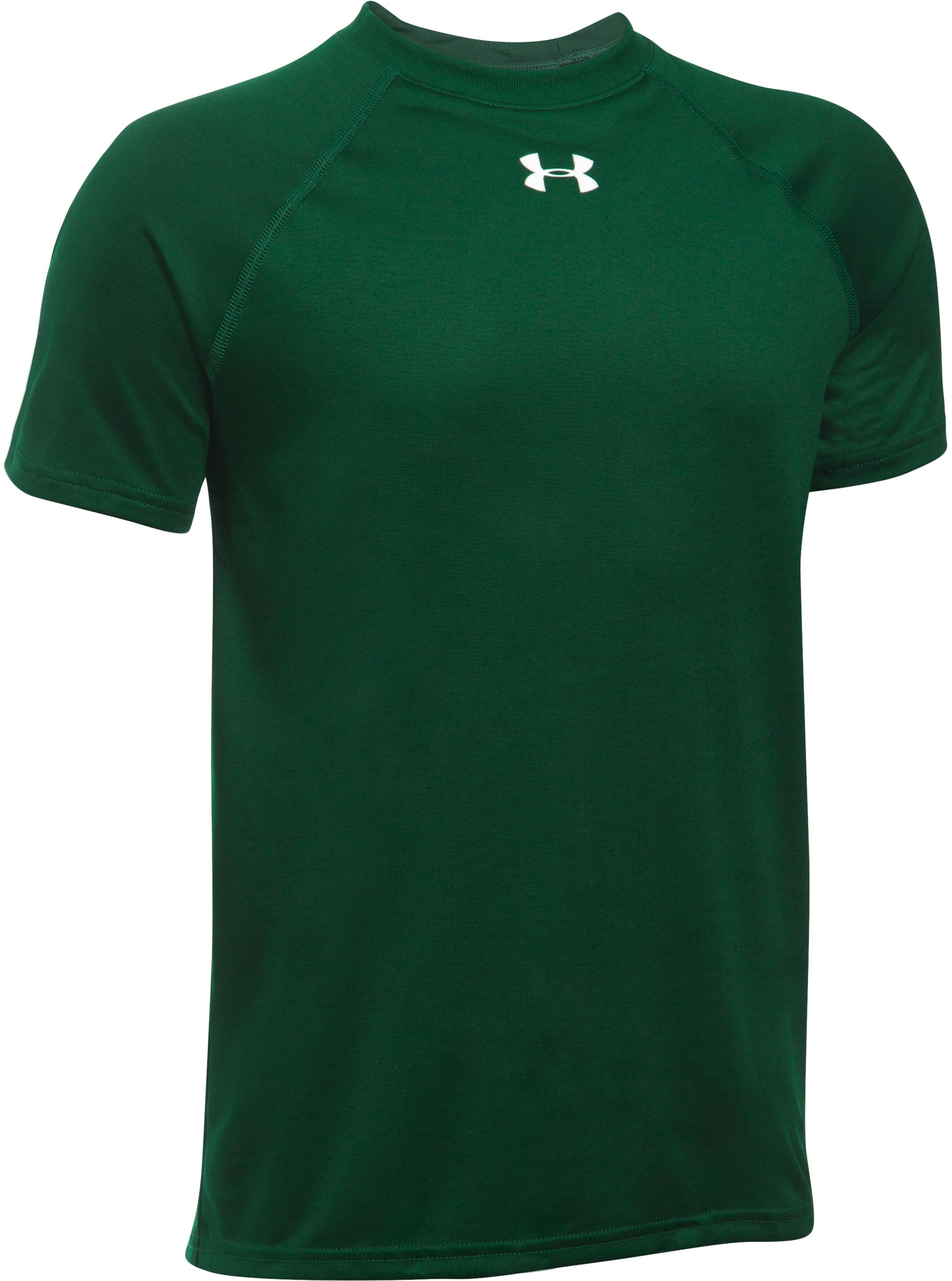 Boys' UA Locker Short Sleeve T-Shirt, Forest Green, undefined