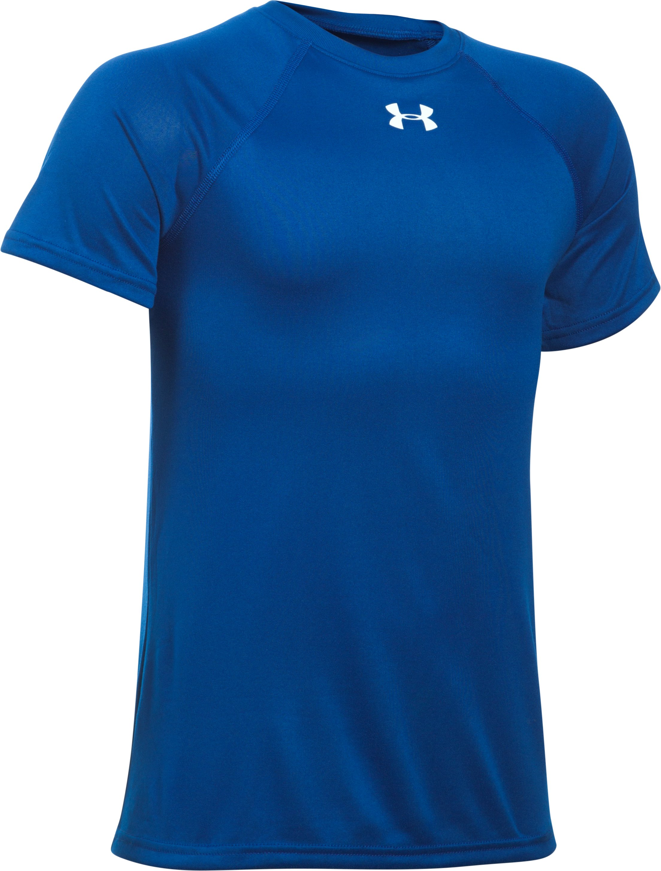 Boys' UA Locker Short Sleeve T-Shirt, Royal, zoomed image
