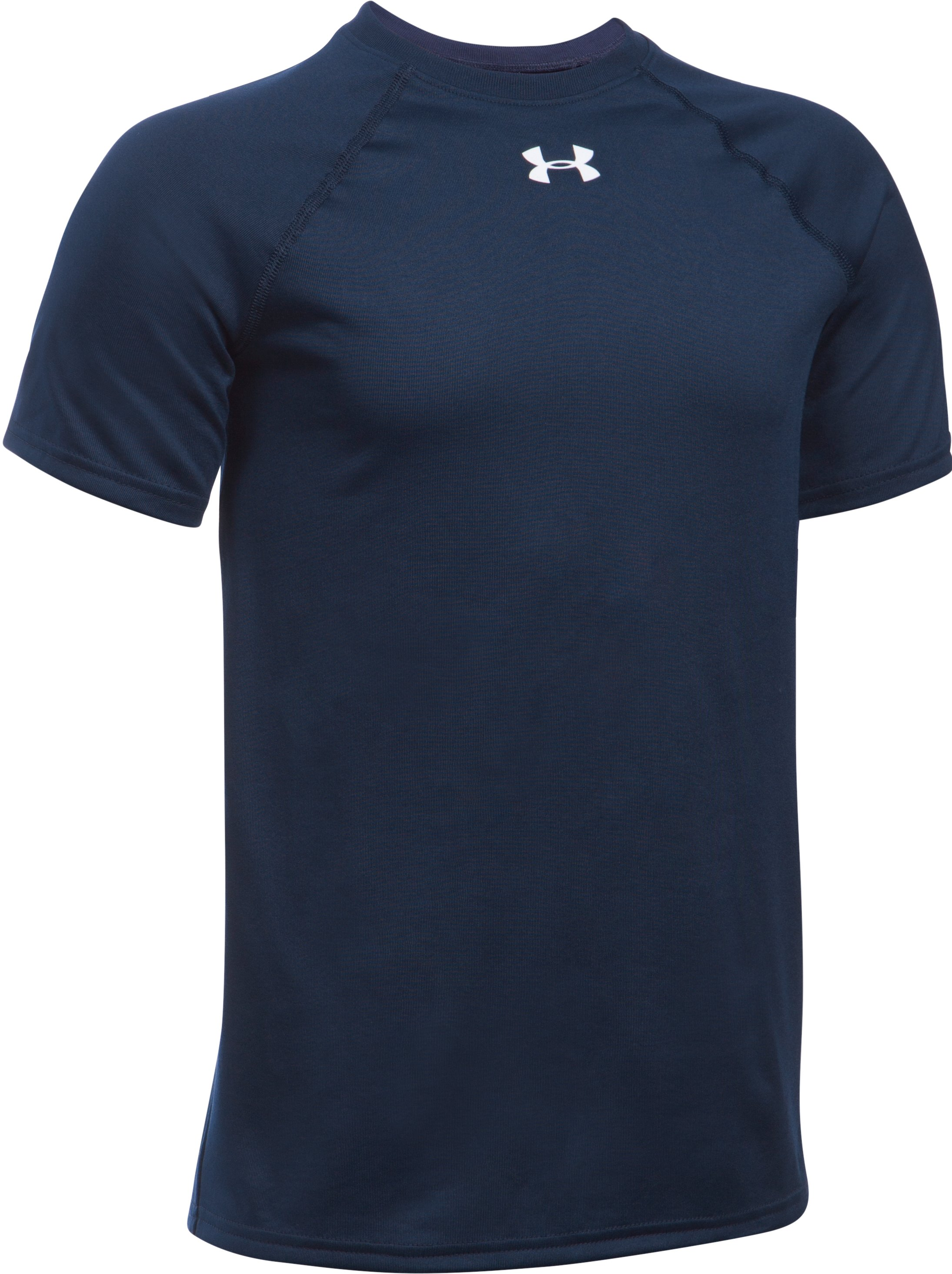 Boys' UA Locker Short Sleeve T-Shirt, Midnight Navy