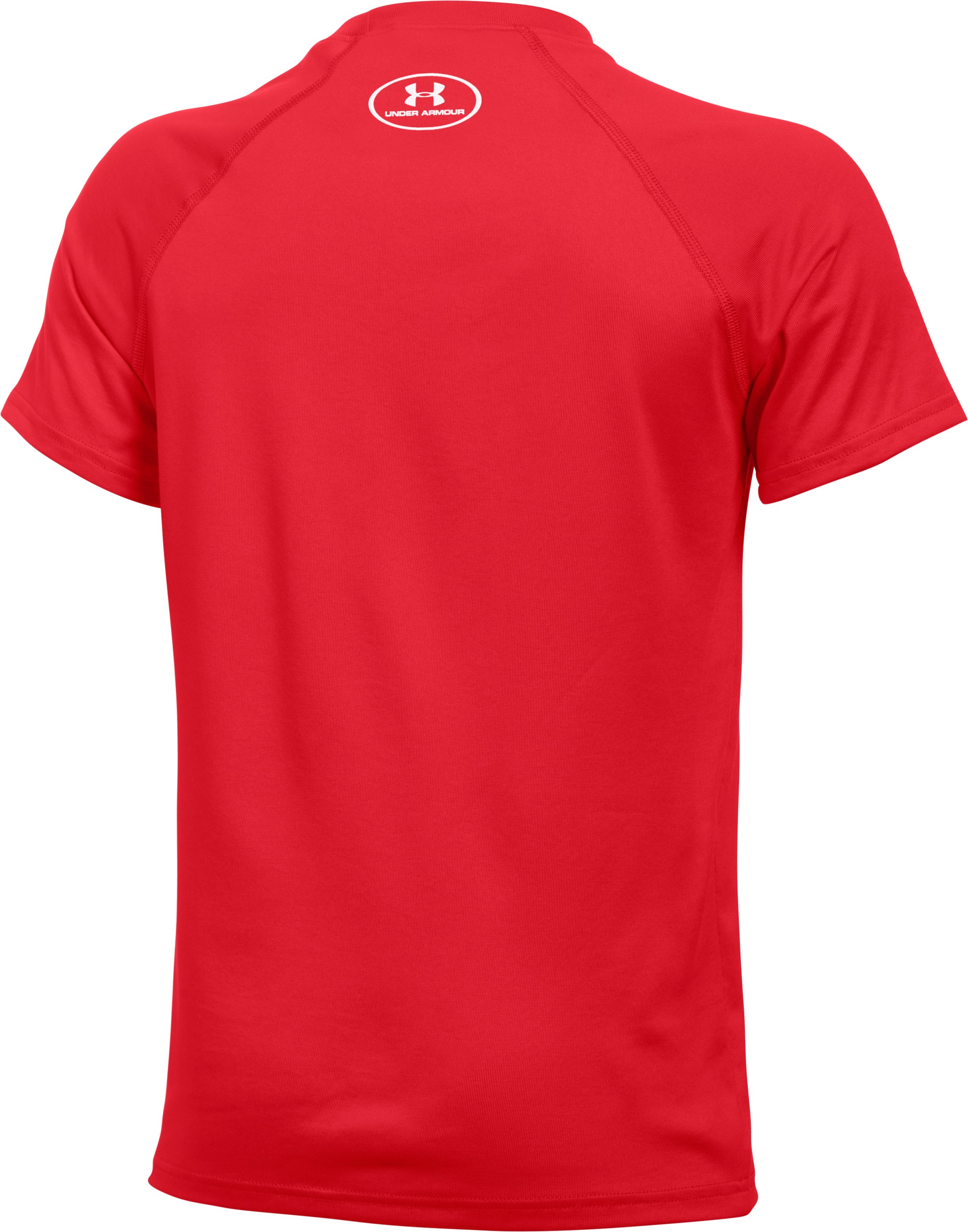 Boys' UA Locker Short Sleeve T-Shirt, Red