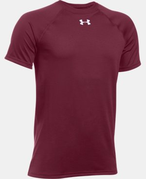New Arrival  Boys' UA Locker Short Sleeve T-Shirt LIMITED TIME: FREE SHIPPING 1 Color $21.99