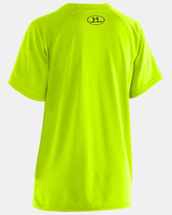 Boys' UA Locker Short Sleeve T-Shirt, Yellow, pdpMainDesktop image number 1