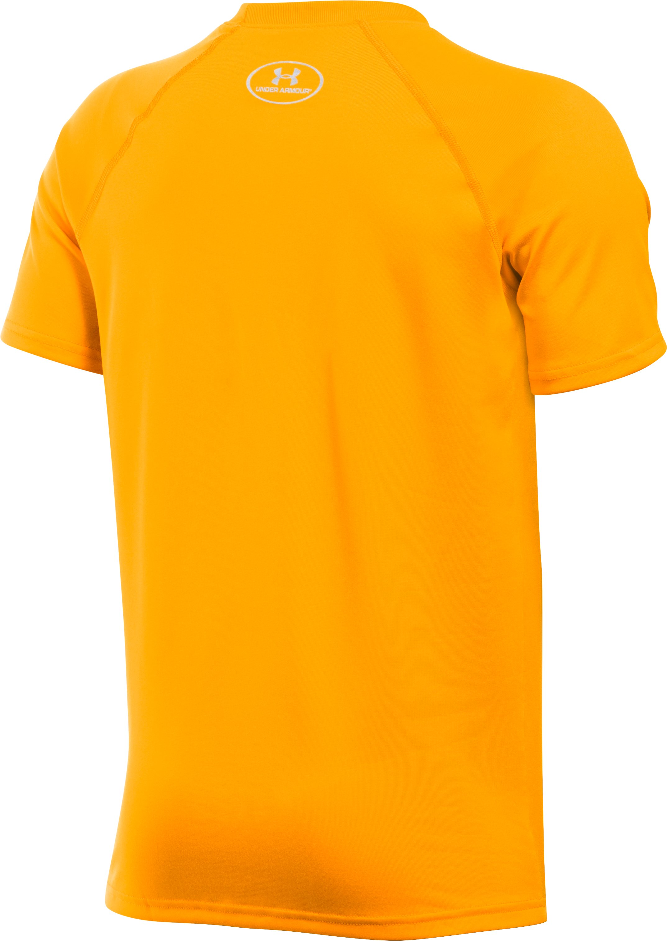 Boys' UA Locker Short Sleeve T-Shirt, Steeltown Gold, undefined