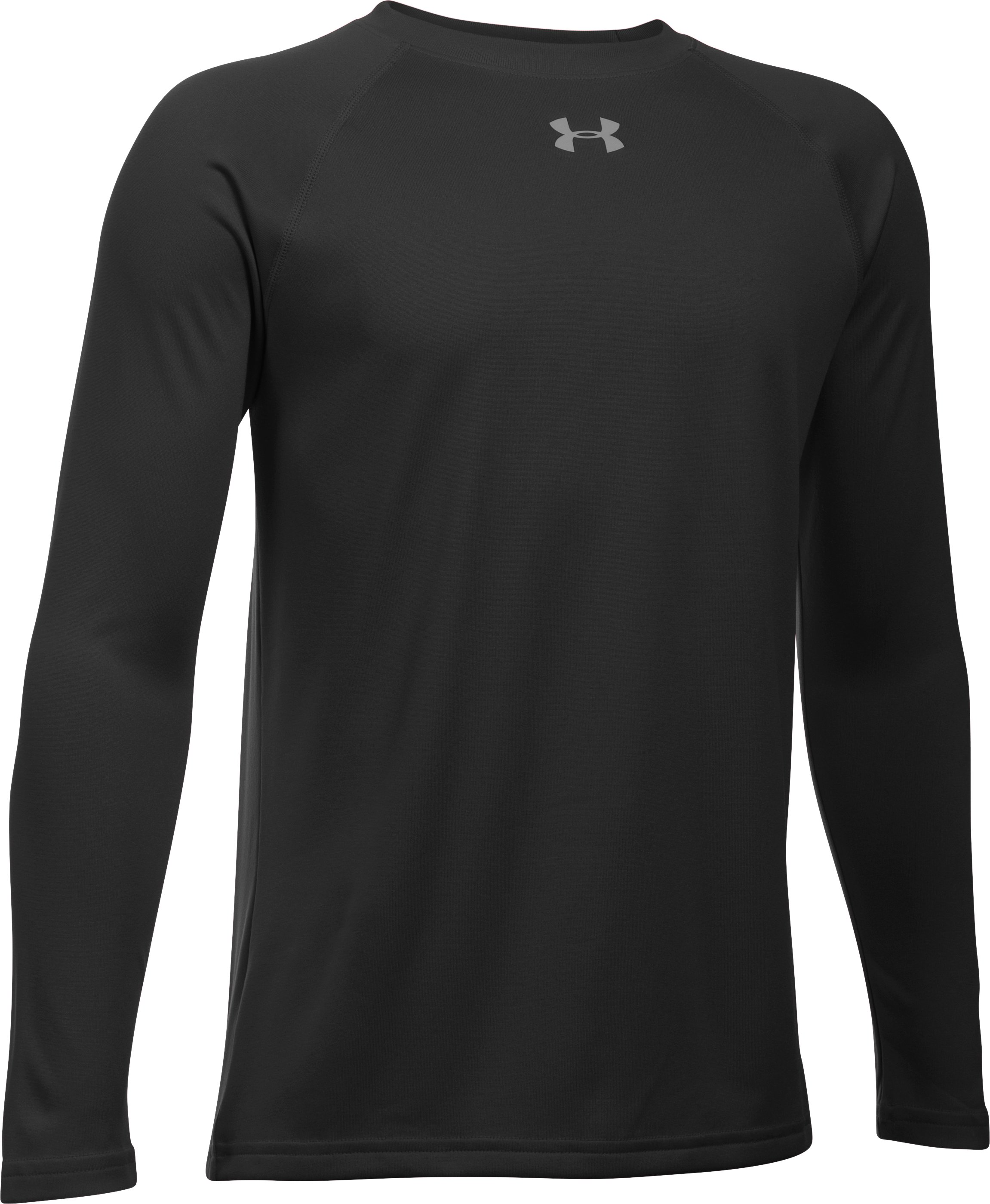 Boys' UA Locker T-Shirt, Black ,